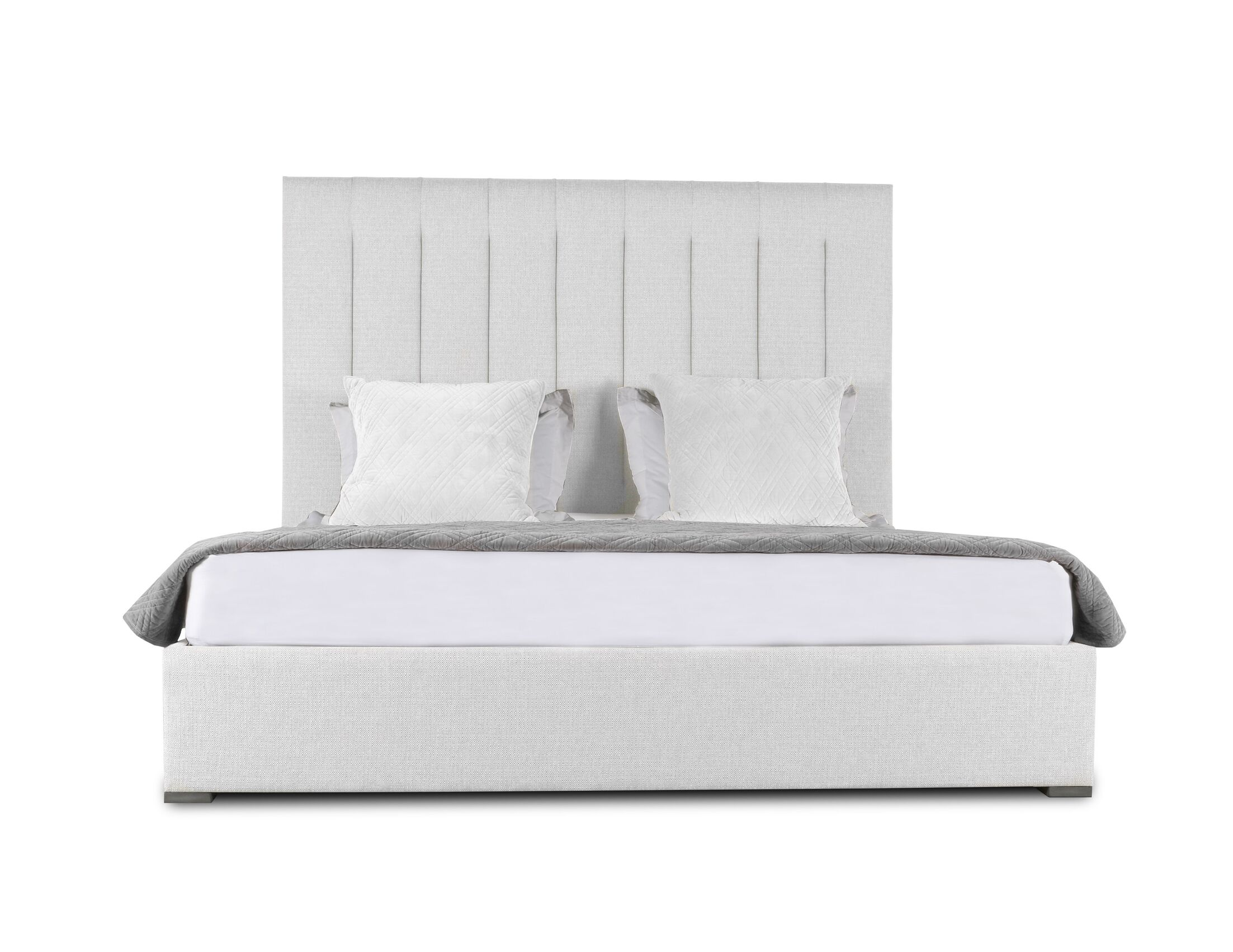 Handley Upholstered Panel Bed Size: Mid Height Queen, Color: White