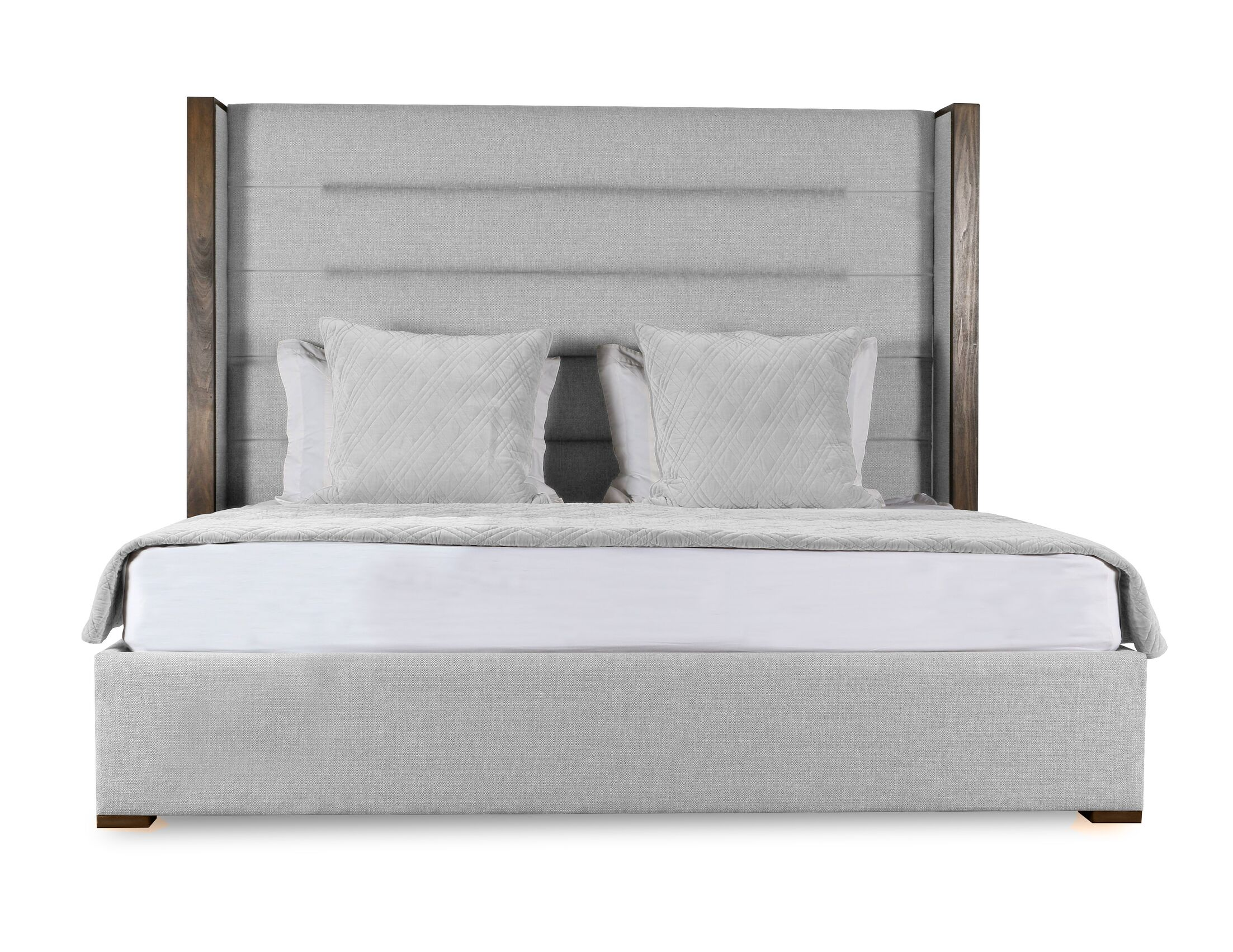 Hank Upholstered Panel Bed Size: Mid Height King, Color: White