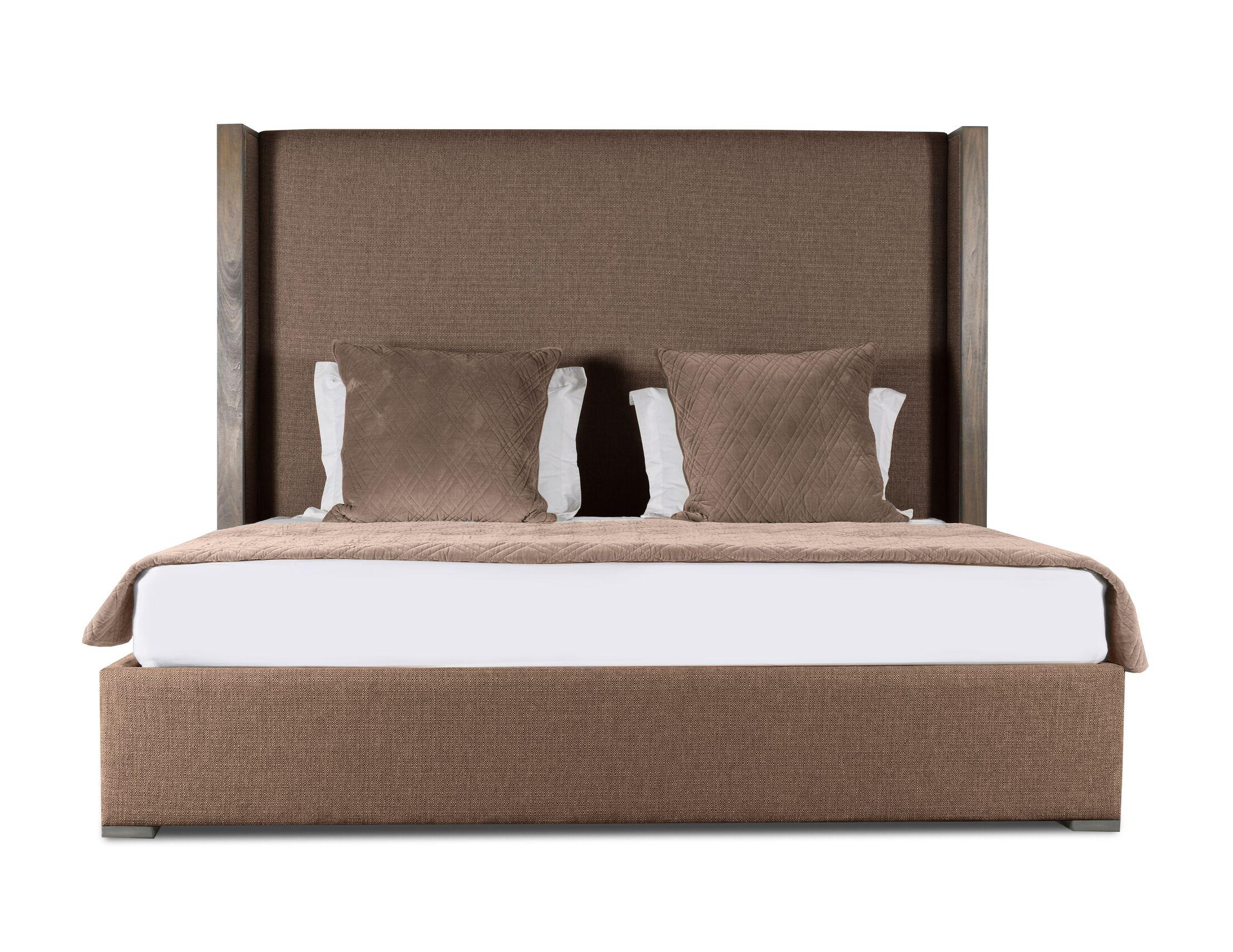 Hank Upholstered Platform Bed Color: Brown, Size: Mid Height King