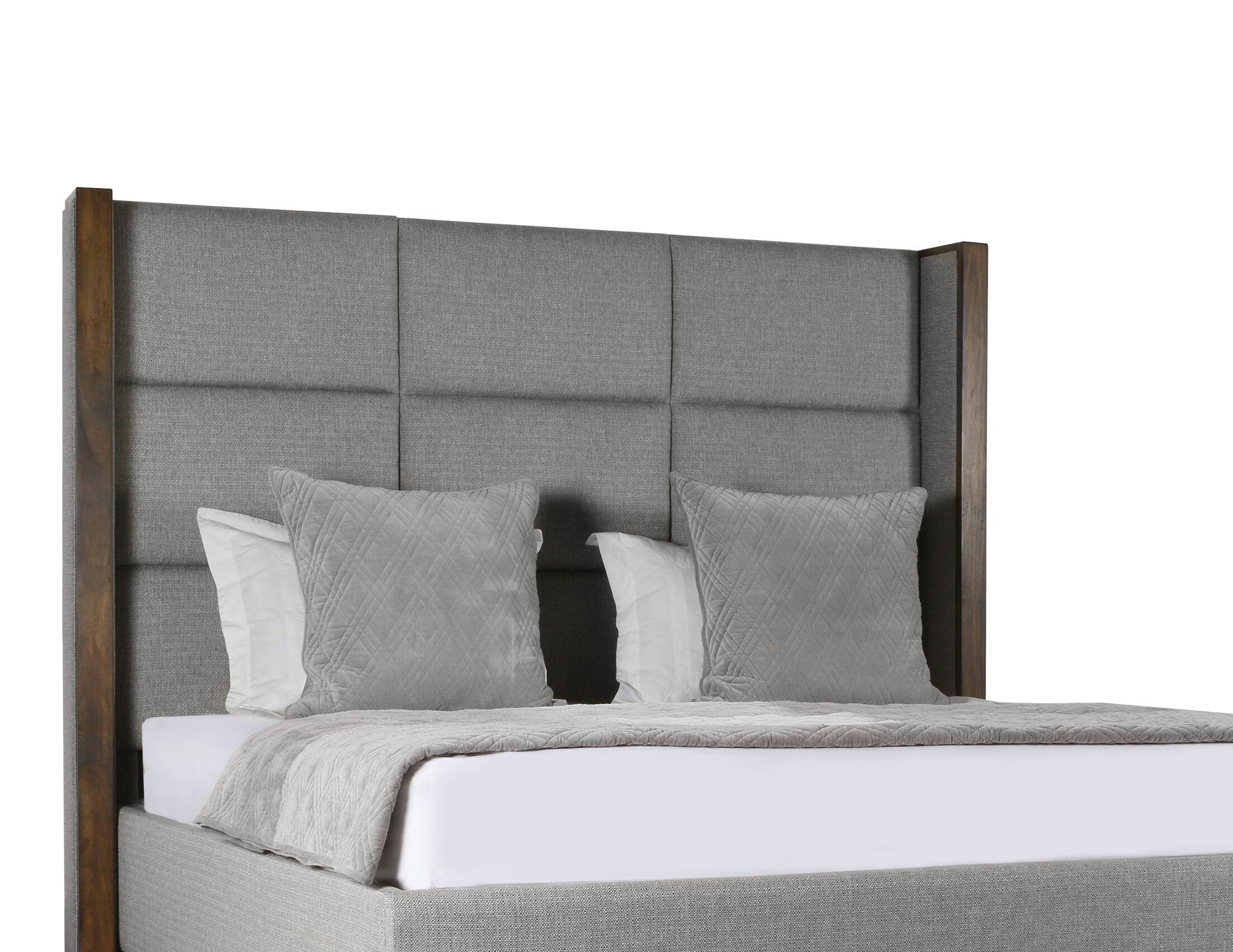 Hank Upholstered Panel Bed Color: Gray, Size: Mid Height California King