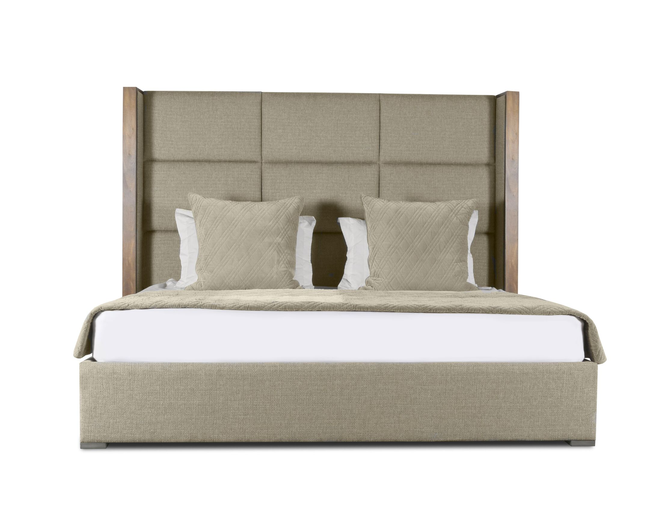 Hank Upholstered Panel Bed Size: Mid Height Queen, Color: Sand