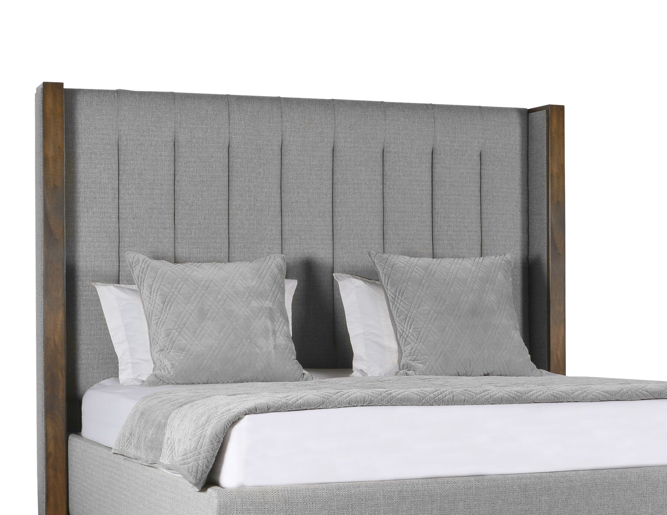 Hank Vertical Channel Tufting Upholstered Platform Bed Color: Gray, Size: Mid Height California King
