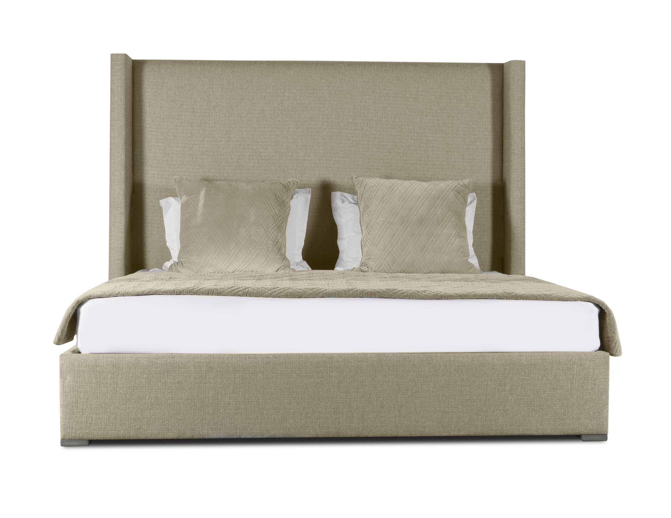 Hansen Plain Upholstered Panel Bed Size: High Height King, Color: Sand