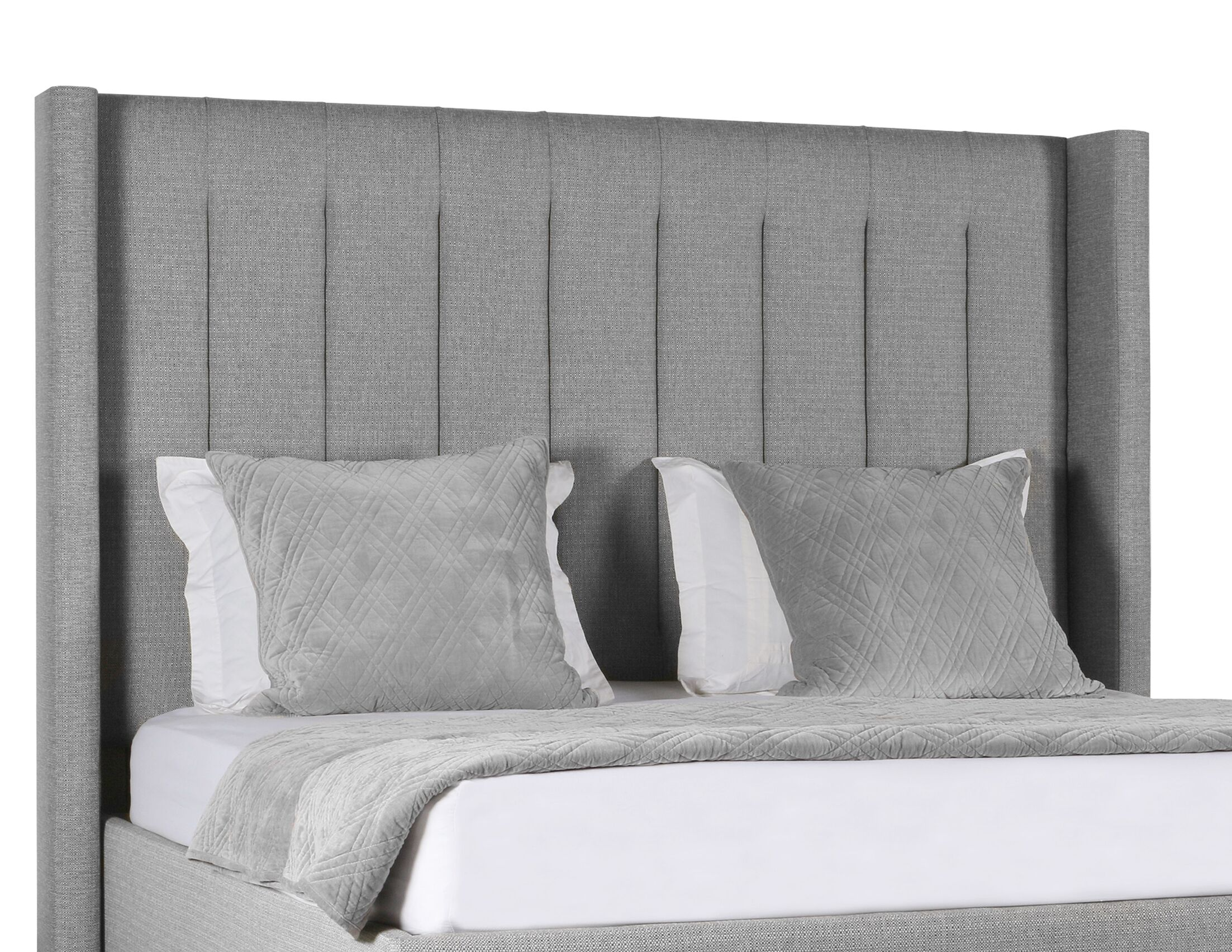 Hansen Upholstered Panel Bed Color: Gray, Size: High Height King