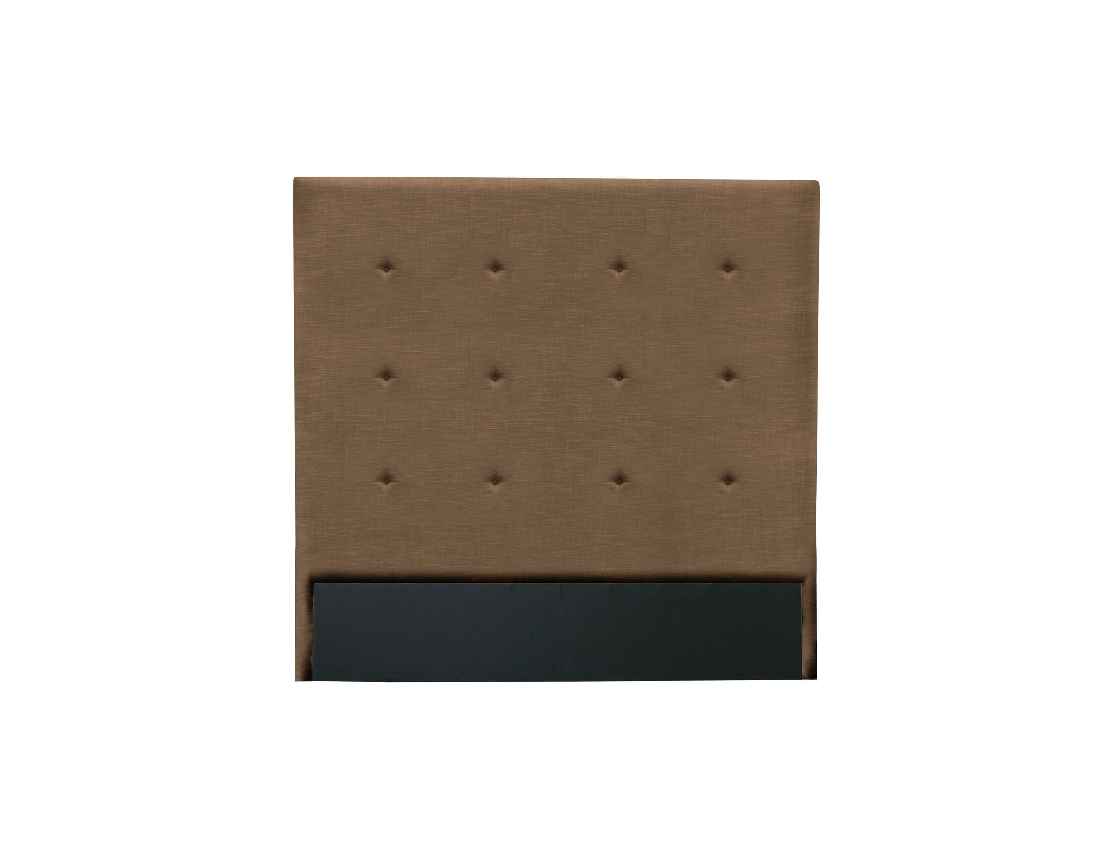 Handley Button Tufted Upholstered Wingback Headboard Color: Brown, Size: Mid Height Queen