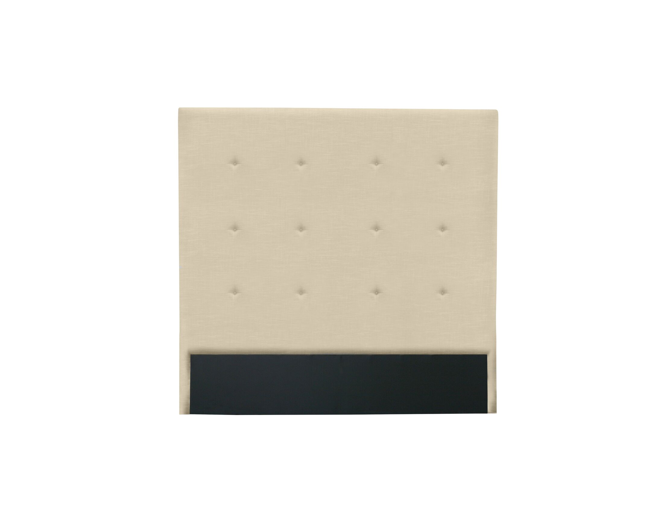 Handley Button Tufted Upholstered Wingback Headboard Size: High Height King, Color: Sand