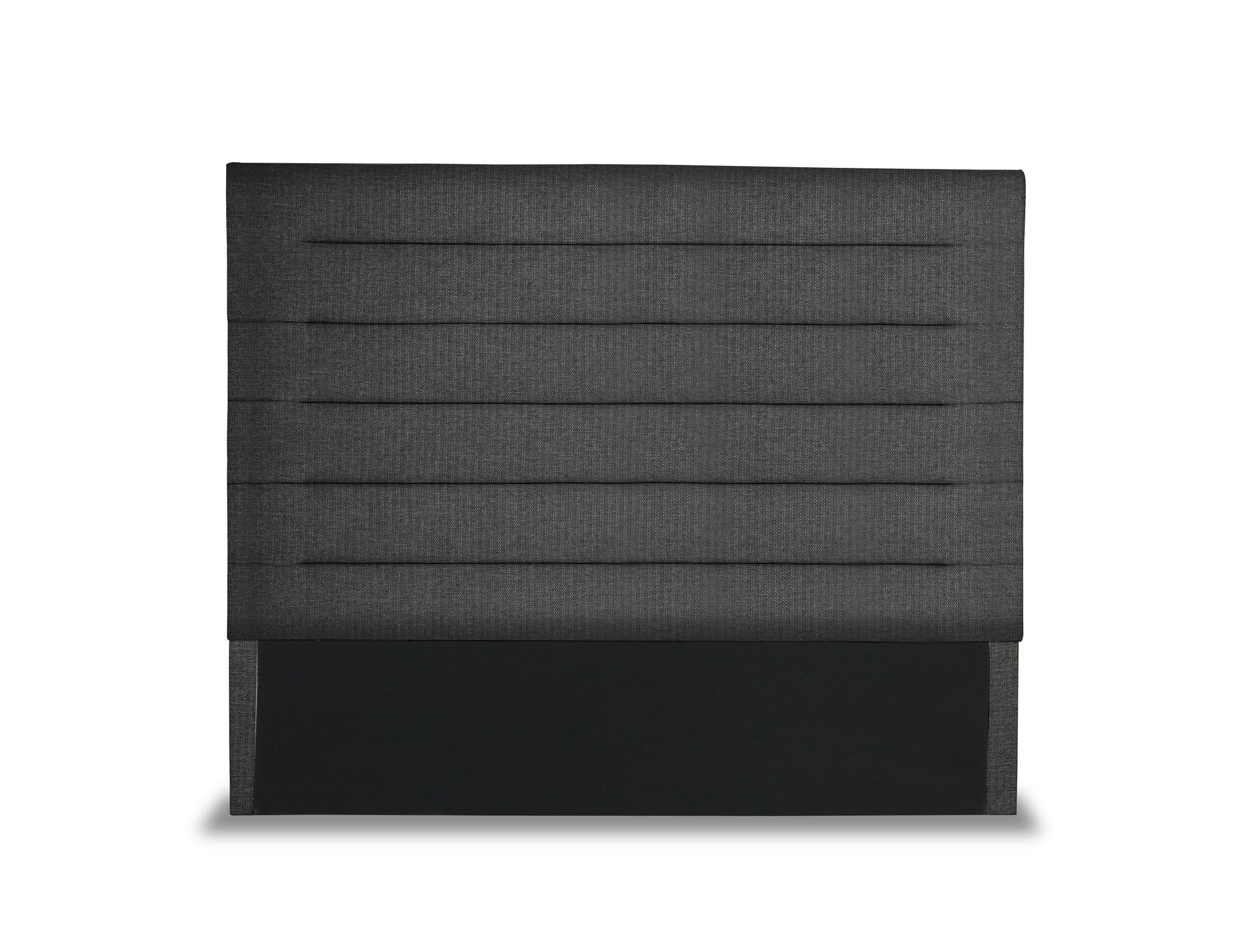Handley Horizontal Channel Tufting Upholstered Wingback Headboard Color: Charcoal, Size: High Height Queen