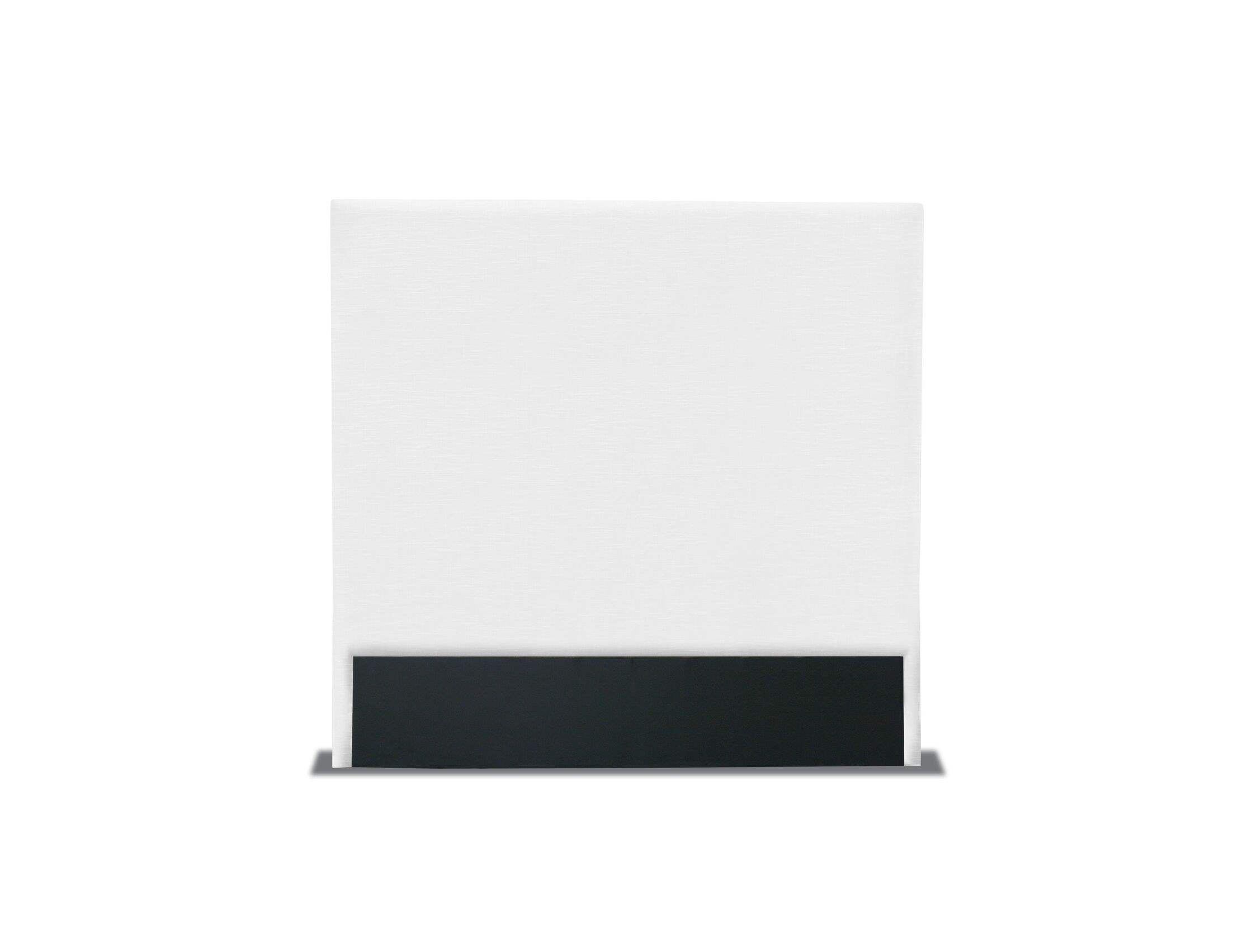 Handley Plain Upholstered Headboard Size: Mid Height California King, Color: White
