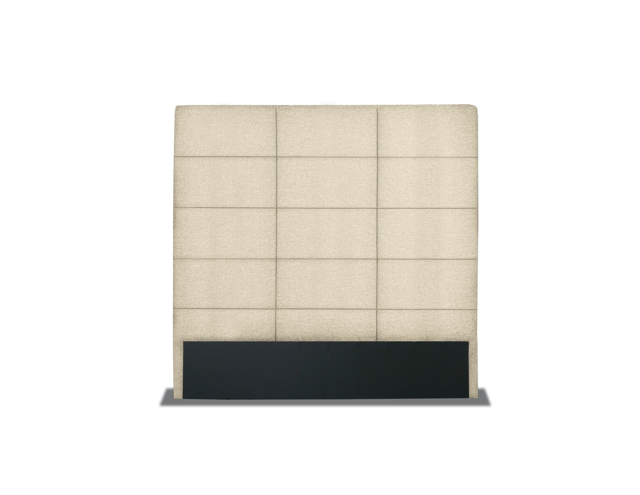 Handley Tufted Upholstered Panel Headboard Size: Mid Height Queen, Color: Sand