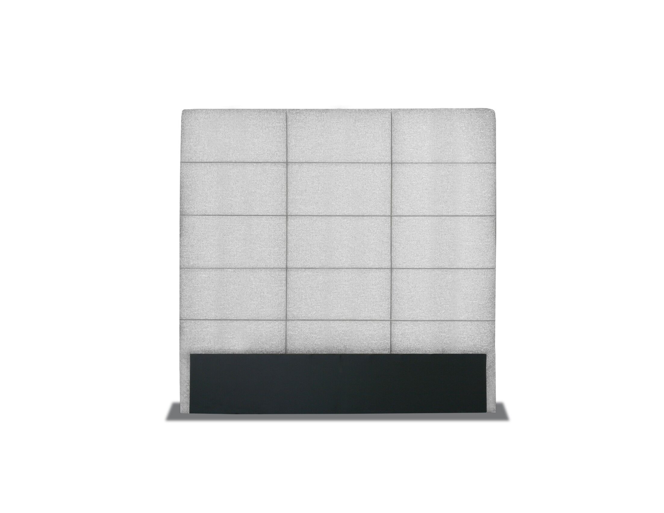 Handley Tufted Upholstered Panel Headboard Color: Gray, Size: High Height Queen