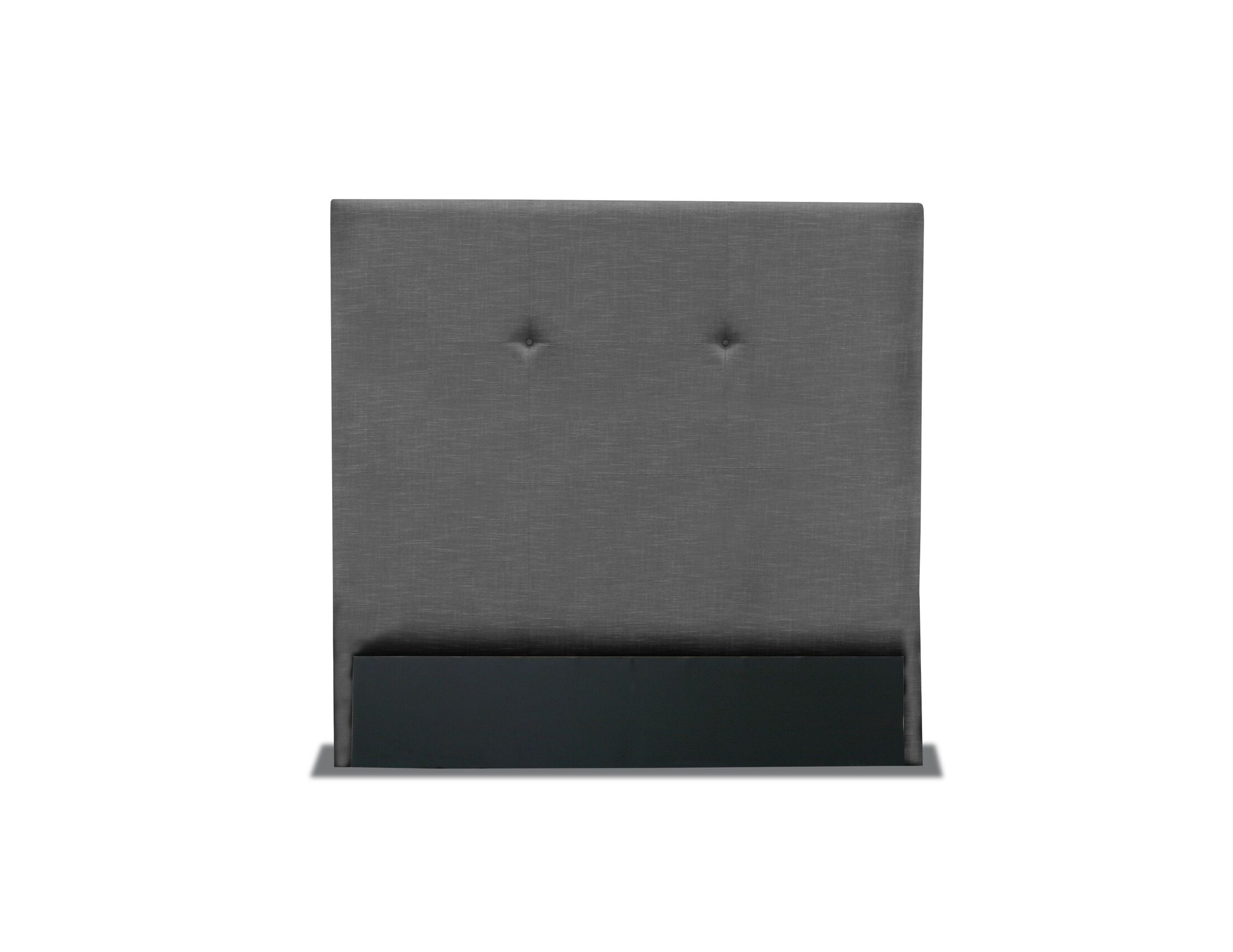 Handley Simple Tufted Upholstered Wingback Headboard Color: Charcoal, Size: High Height Queen