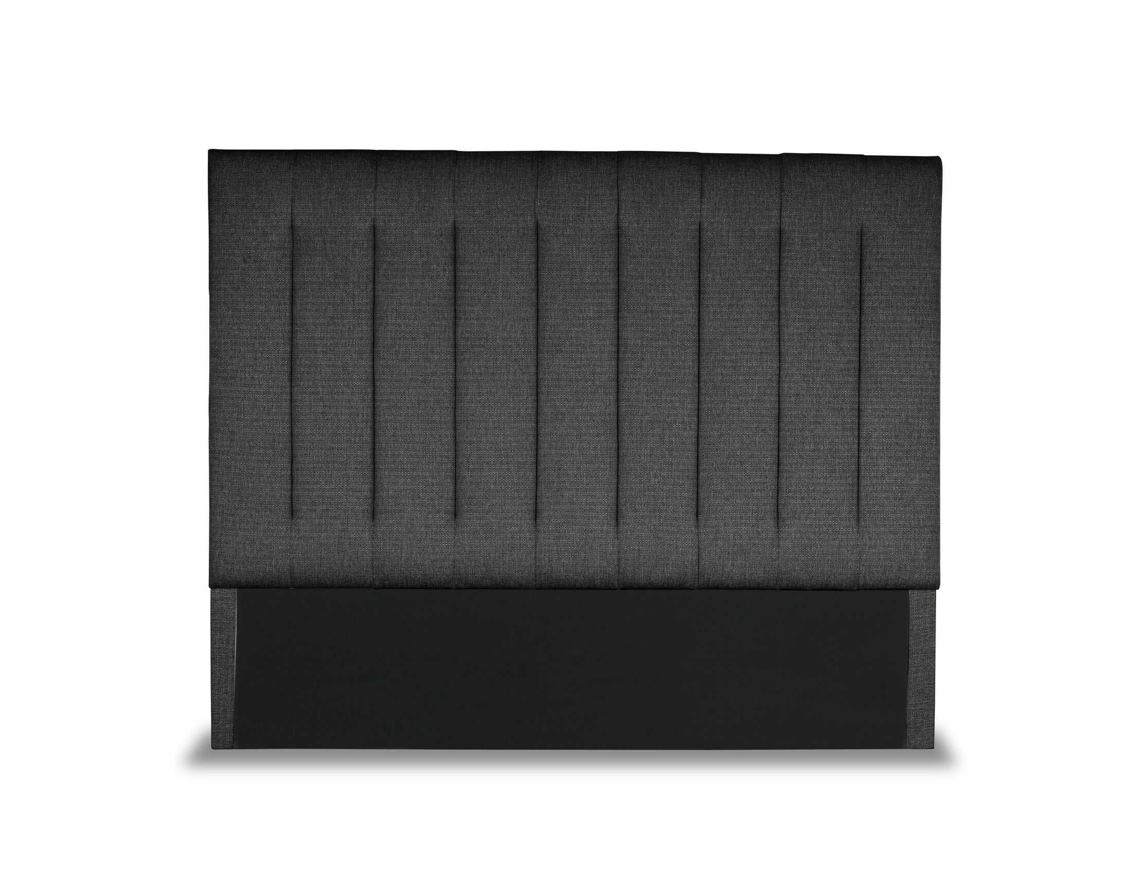 Handley Vertical Channel Tufting Upholstered Wingback Headboard Color: Charcoal, Size: High Height California King