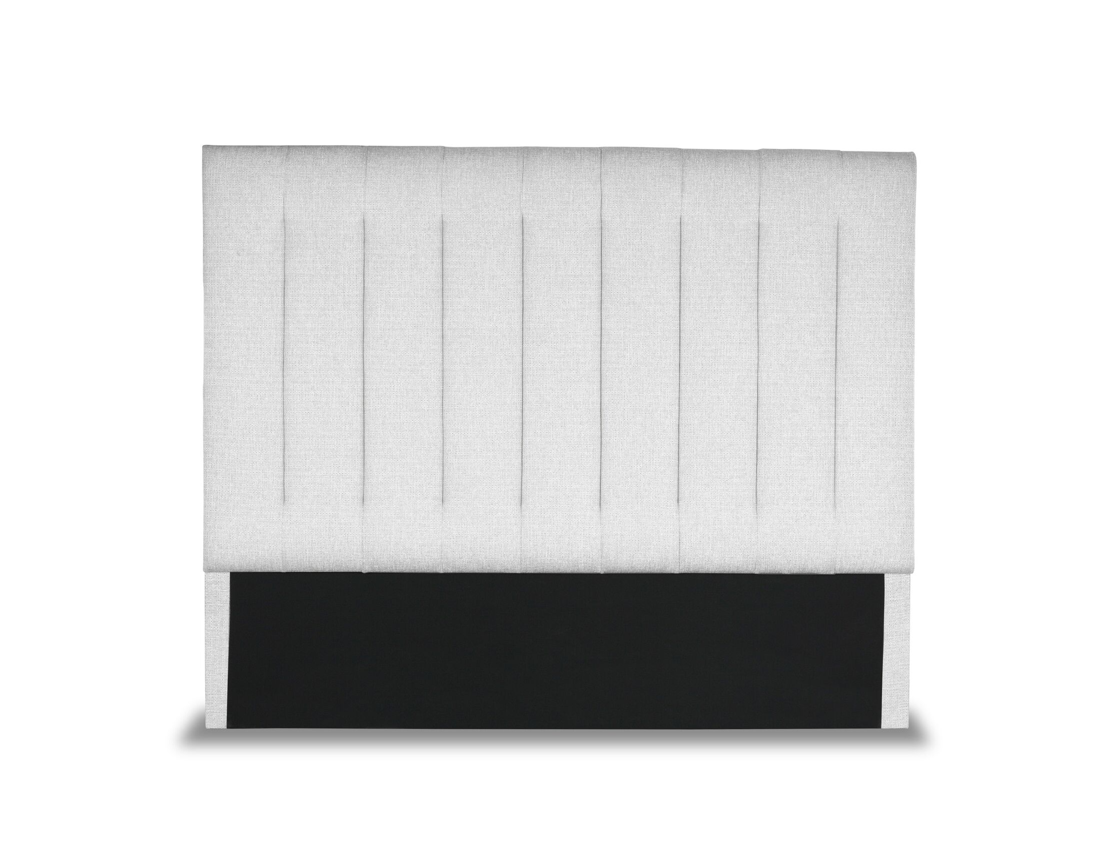 Handley Vertical Channel Tufting Upholstered Wingback Headboard Size: High Height California King, Color: White