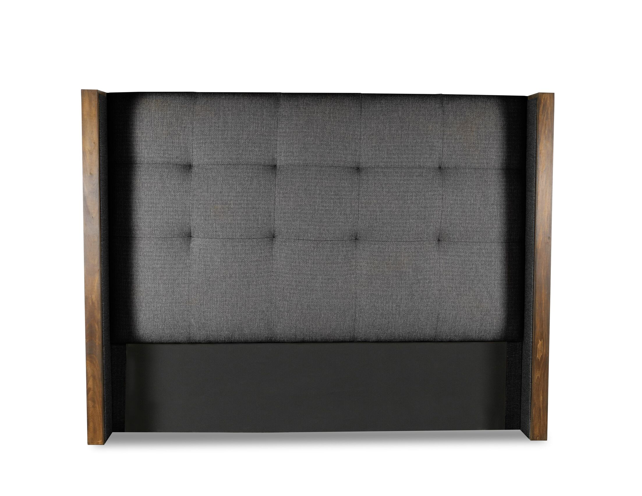 Hank Button Tufted Upholstered Wingback Headboard Color: Charcoal, Size: High Height Queen