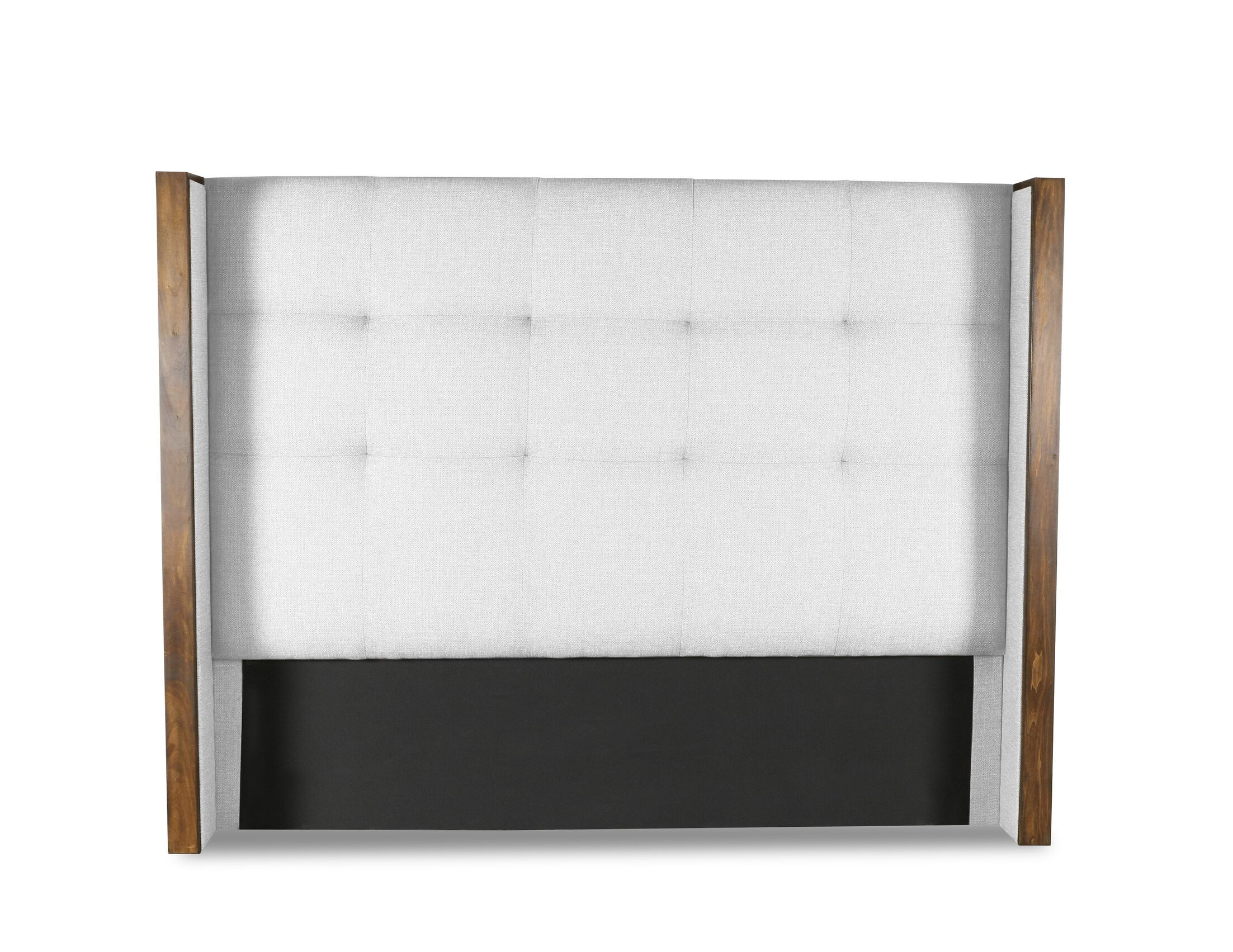 Hank Button Tufted Upholstered Wingback Headboard Size: Mid Height King, Color: White