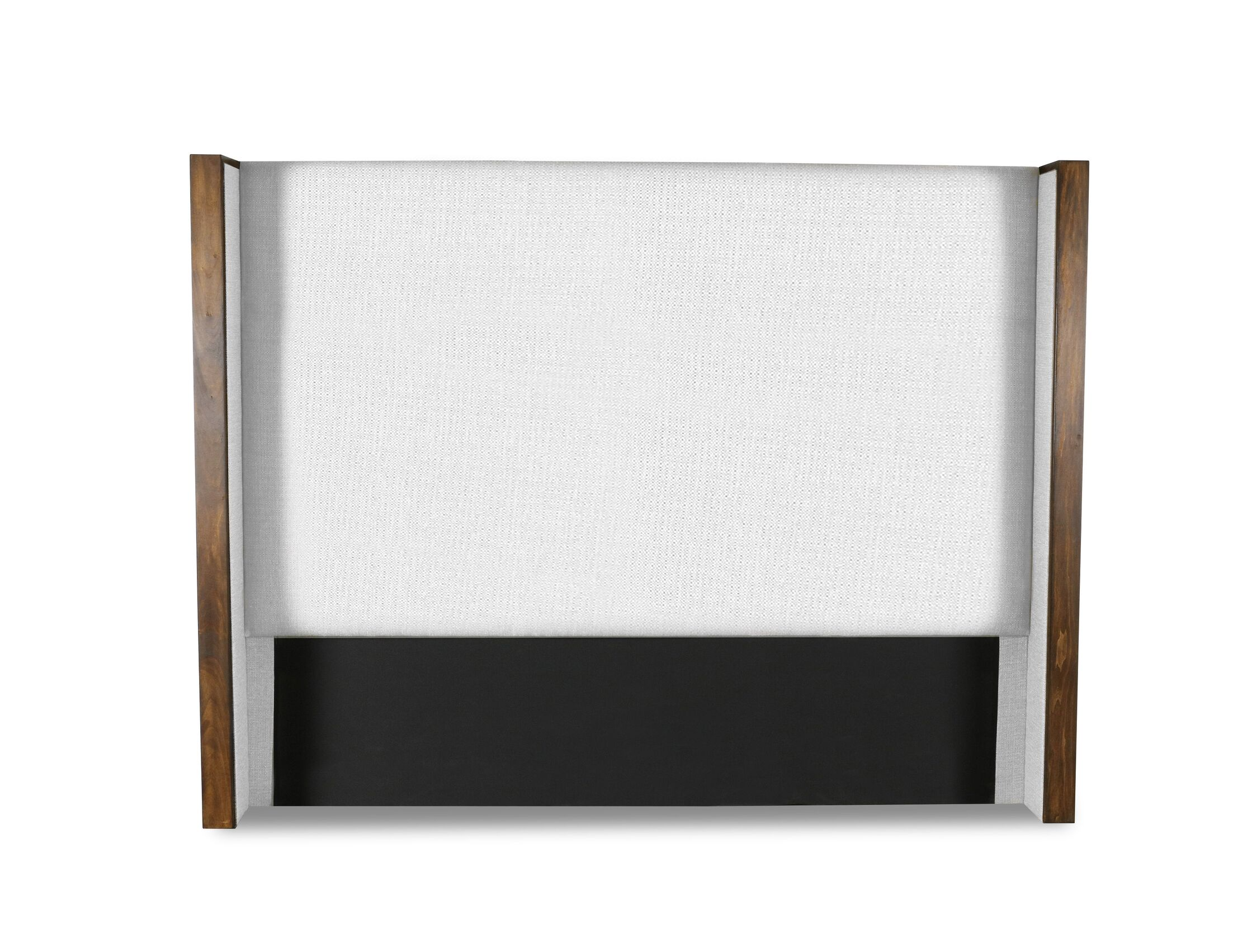 Hank Plain Upholstered Wingback Headboard Size: High Height California King, Color: White