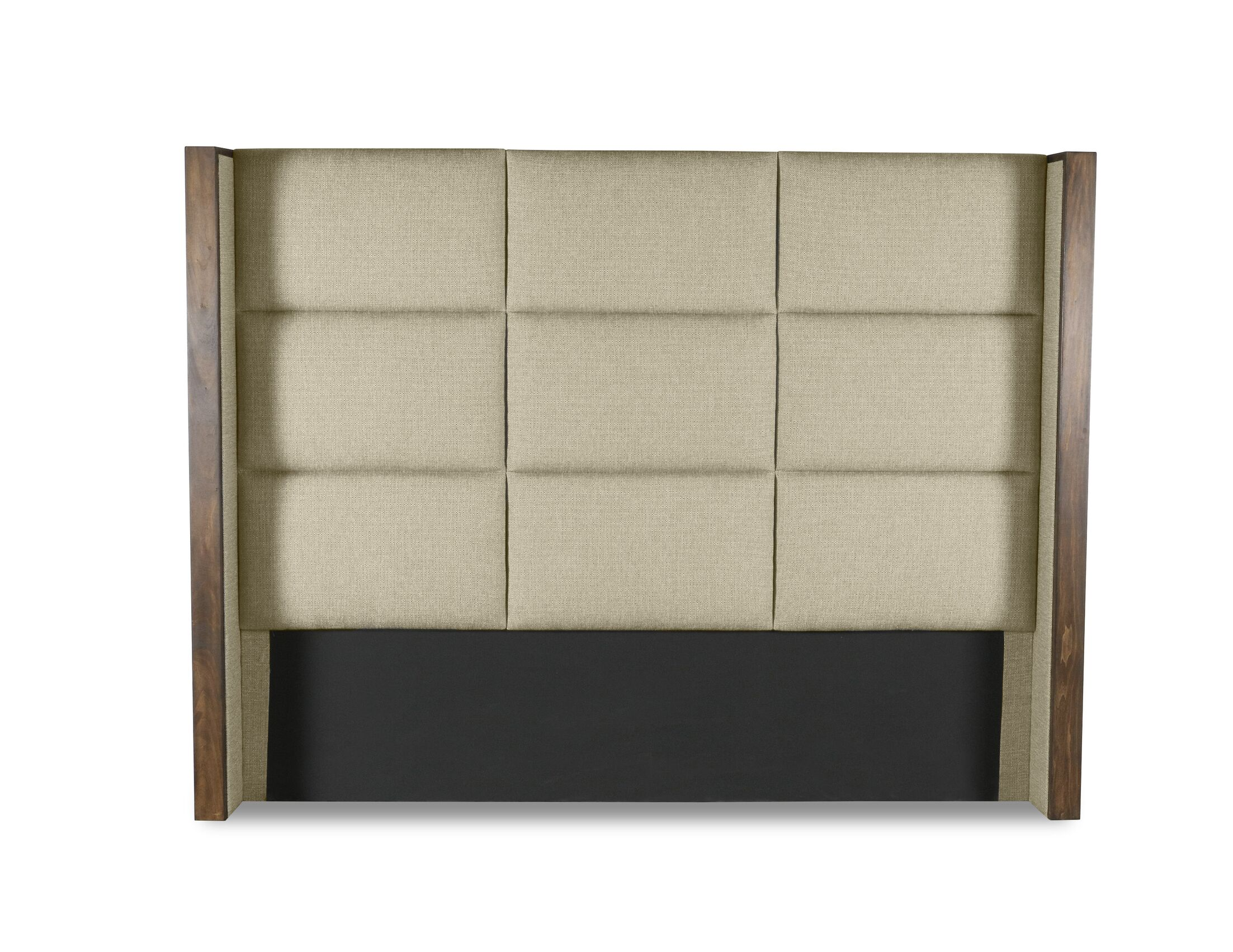 Hank Square Tufted Upholstered Wingback Headboard Size: High Height California King, Color: Sand