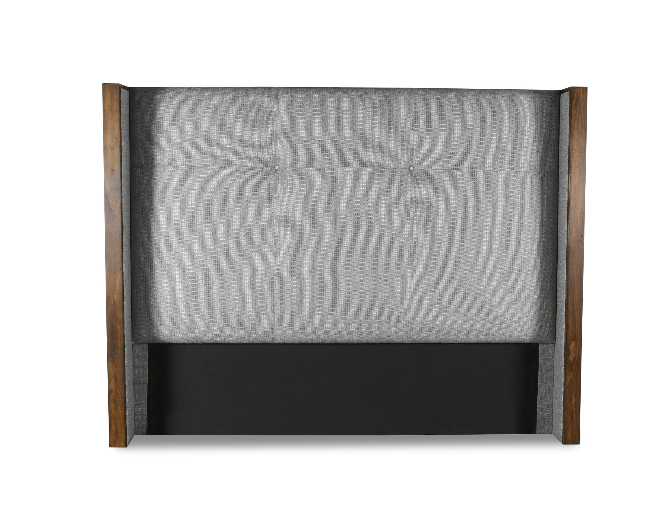 Hank Simple Tufted Upholstered Wingback Headboard Color: Gray, Size: Mid Height Queen