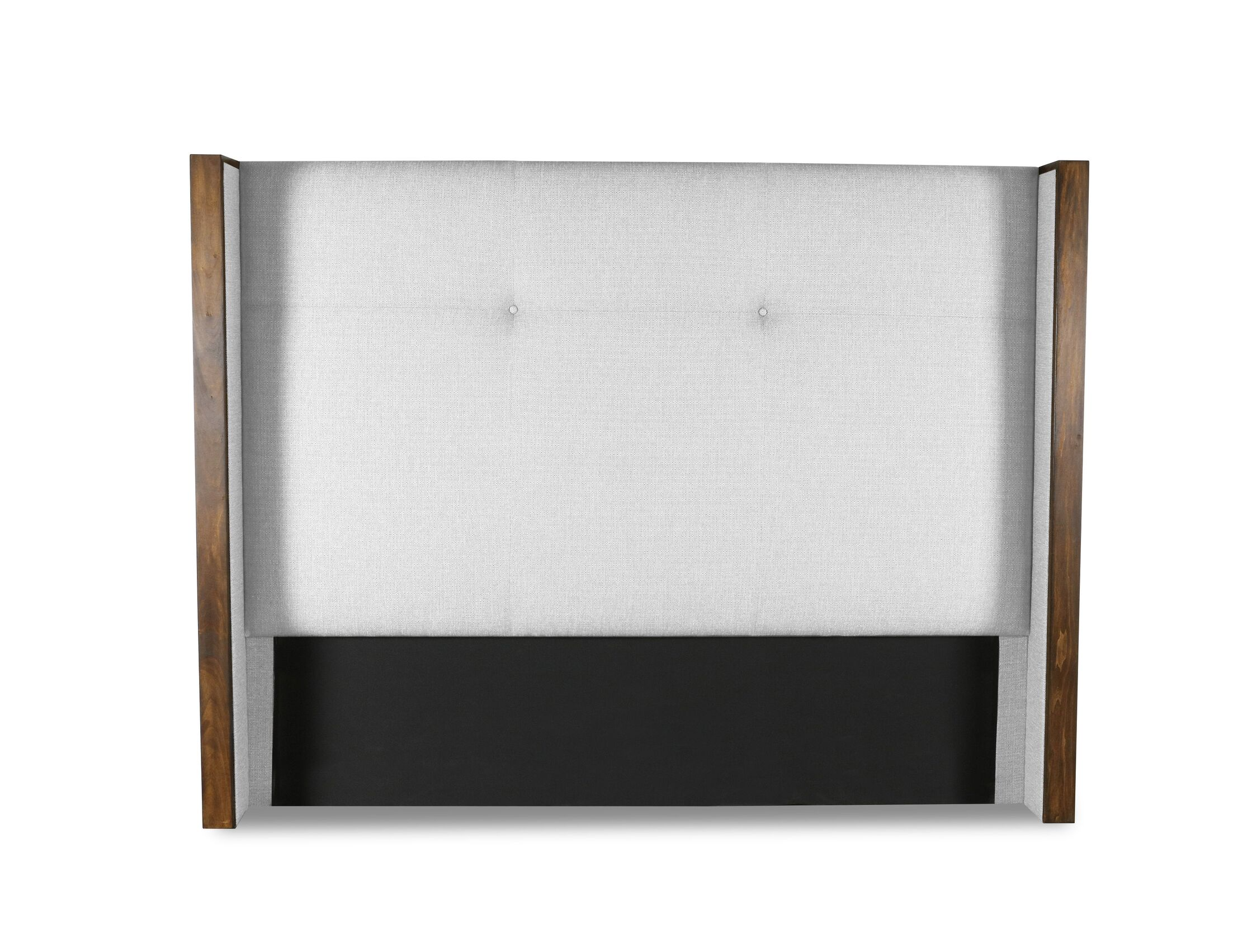 Hank Simple Tufted Upholstered Wingback Headboard Size: Mid Height King, Color: White