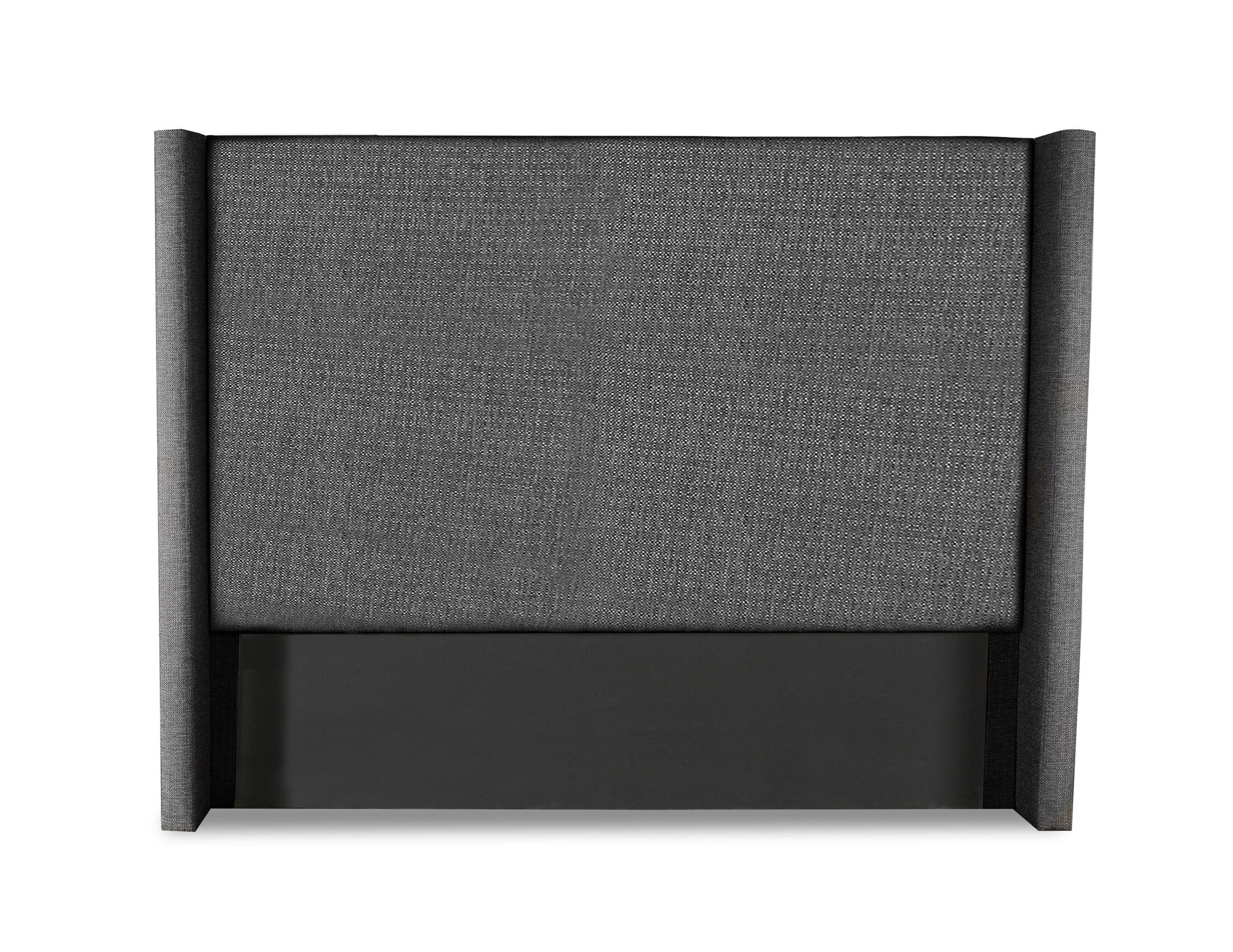 Hansen Plain Upholstered Wingback Headboard Color: Charcoal, Size: High Height California King