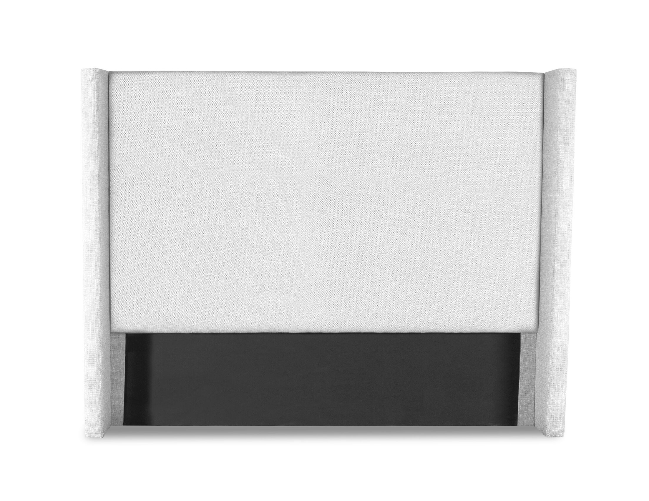 Hansen Plain Upholstered Wingback Headboard Size: Mid Height California King, Color: White