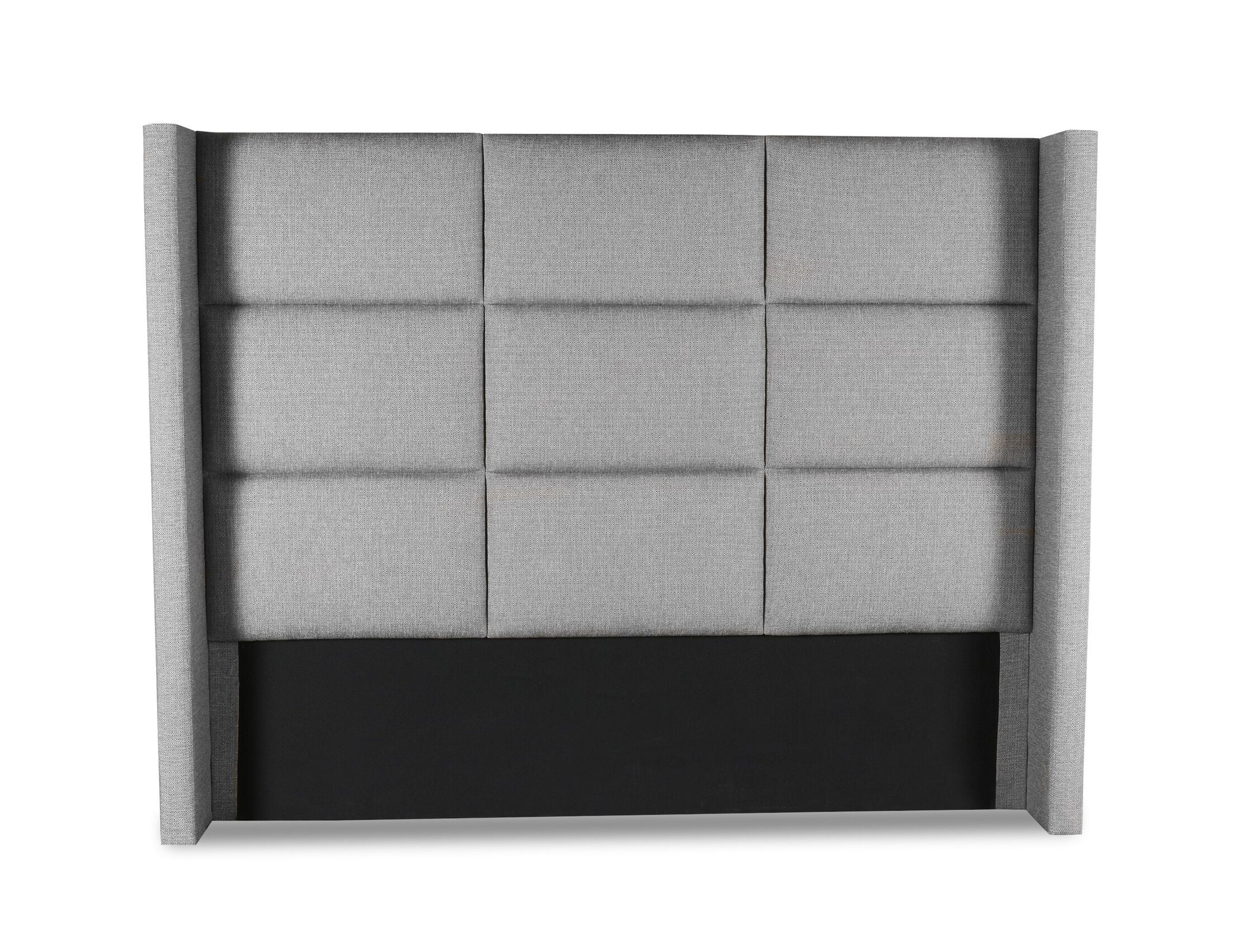 Hansen Square Tufted Upholstered Wingback Headboard Color: Gray, Size: High Height Queen
