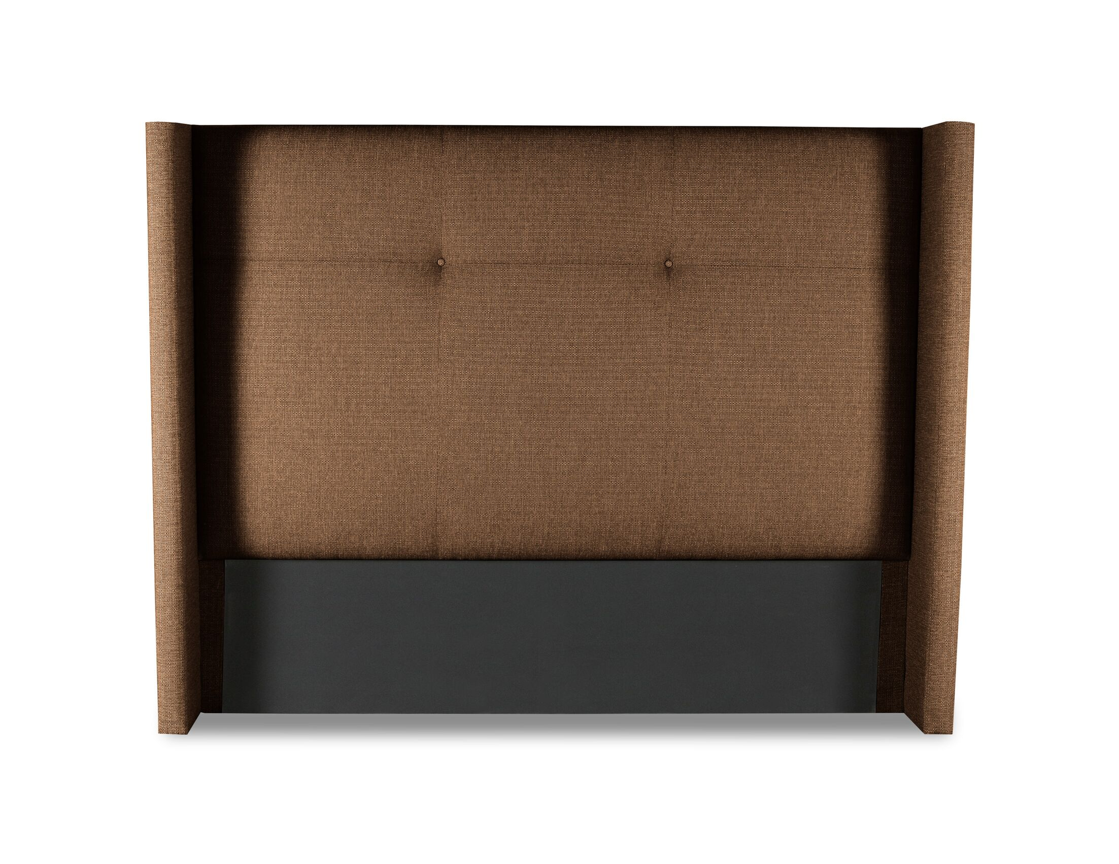 Hansen Simple Tufted Upholstered Wingback Headboard Color: Brown, Size: Mid Height California King