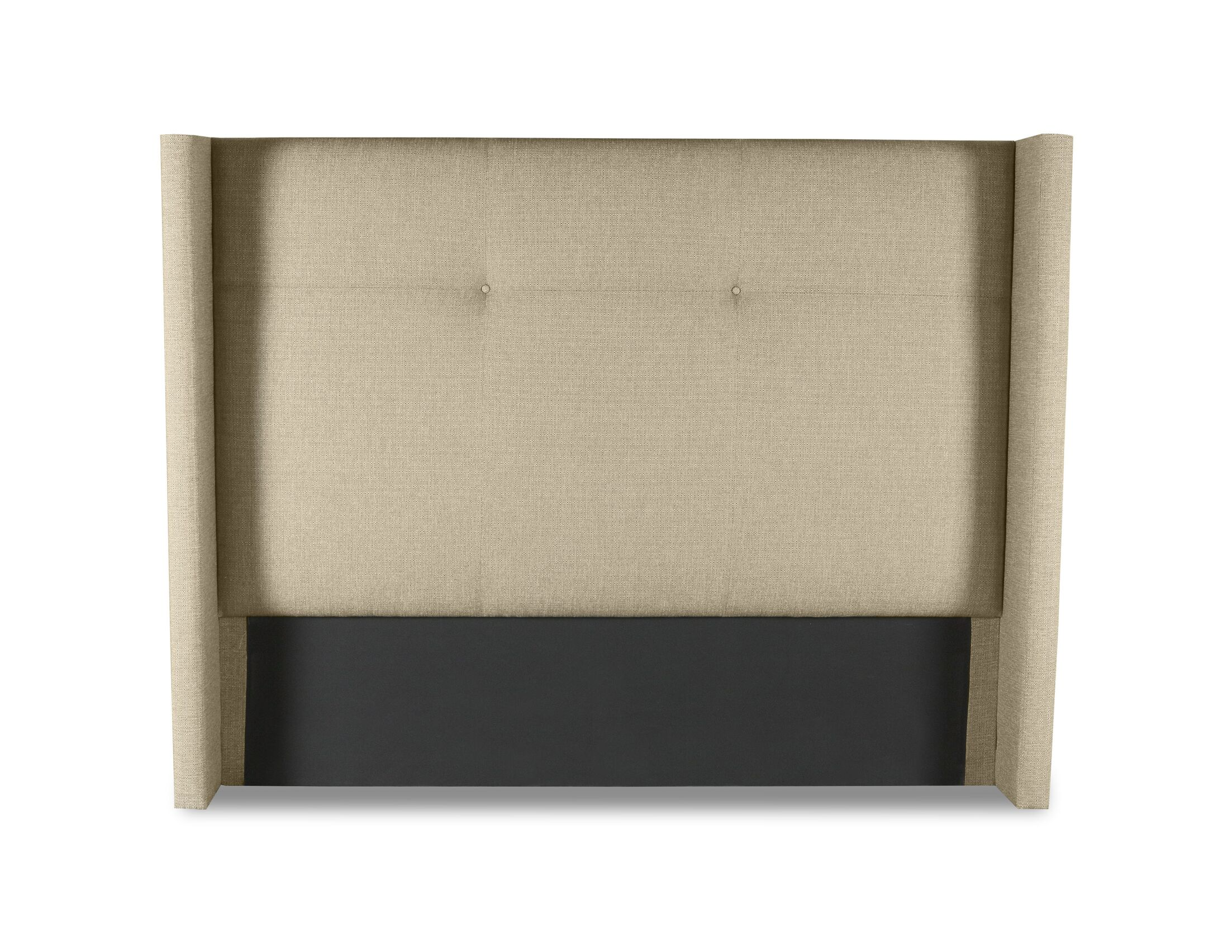 Hansen Simple Tufted Upholstered Wingback Headboard Size: Mid Height California King, Color: Sand