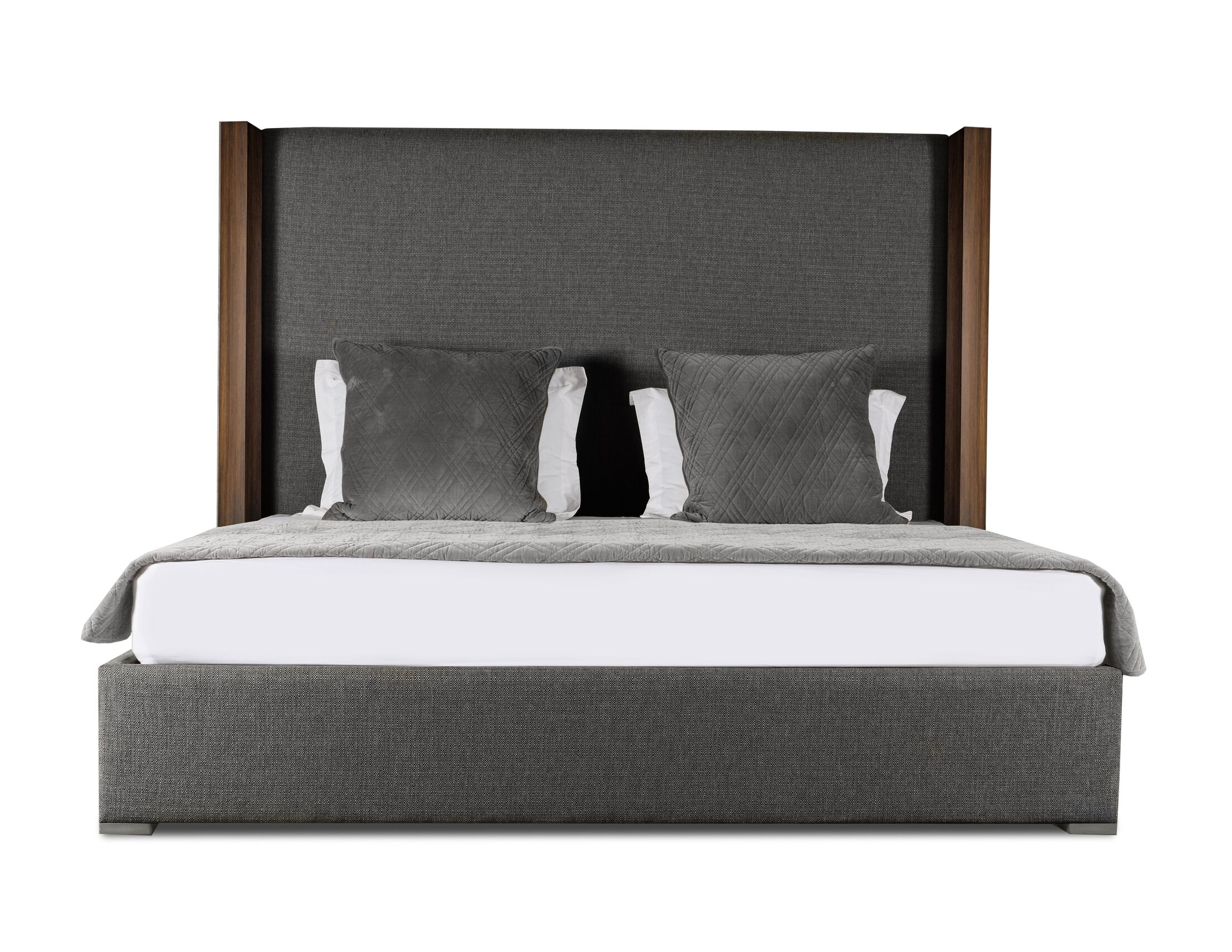 Harborcreek Plain Upholstered Panel Bed Color: Charcoal, Size: High Height Queen
