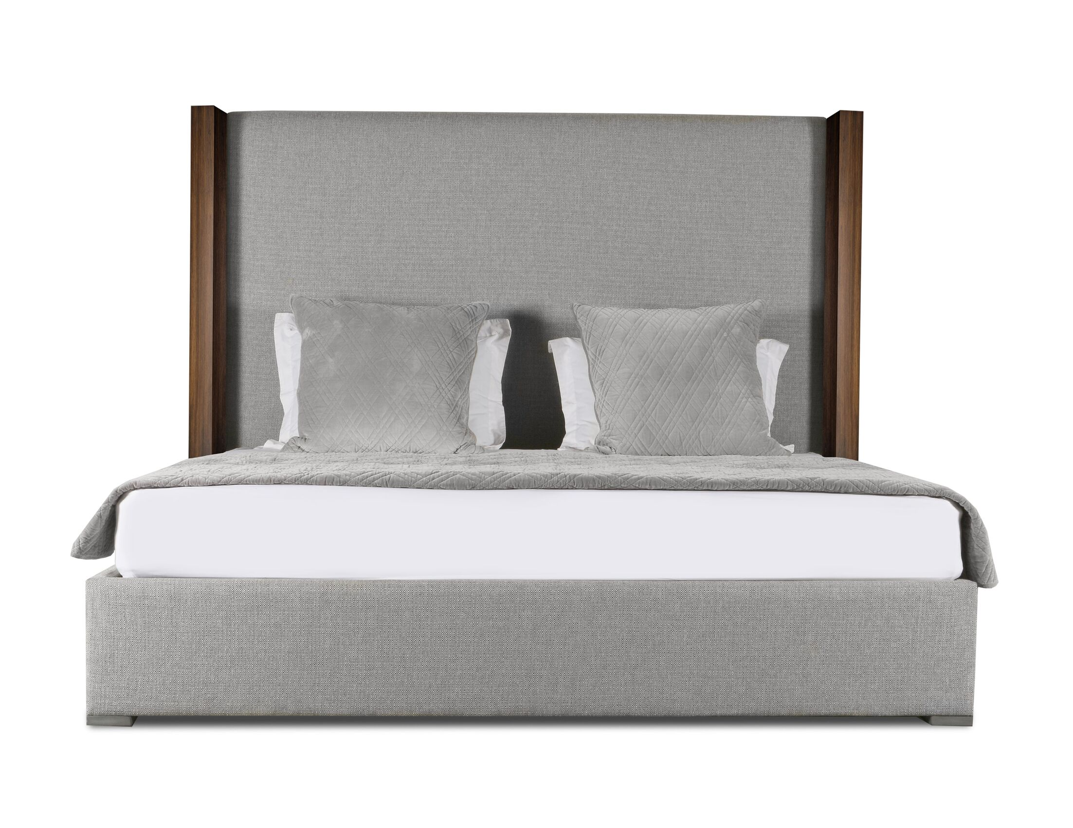 Harborcreek Plain Upholstered Panel Bed Color: Gray, Size: High Height California King