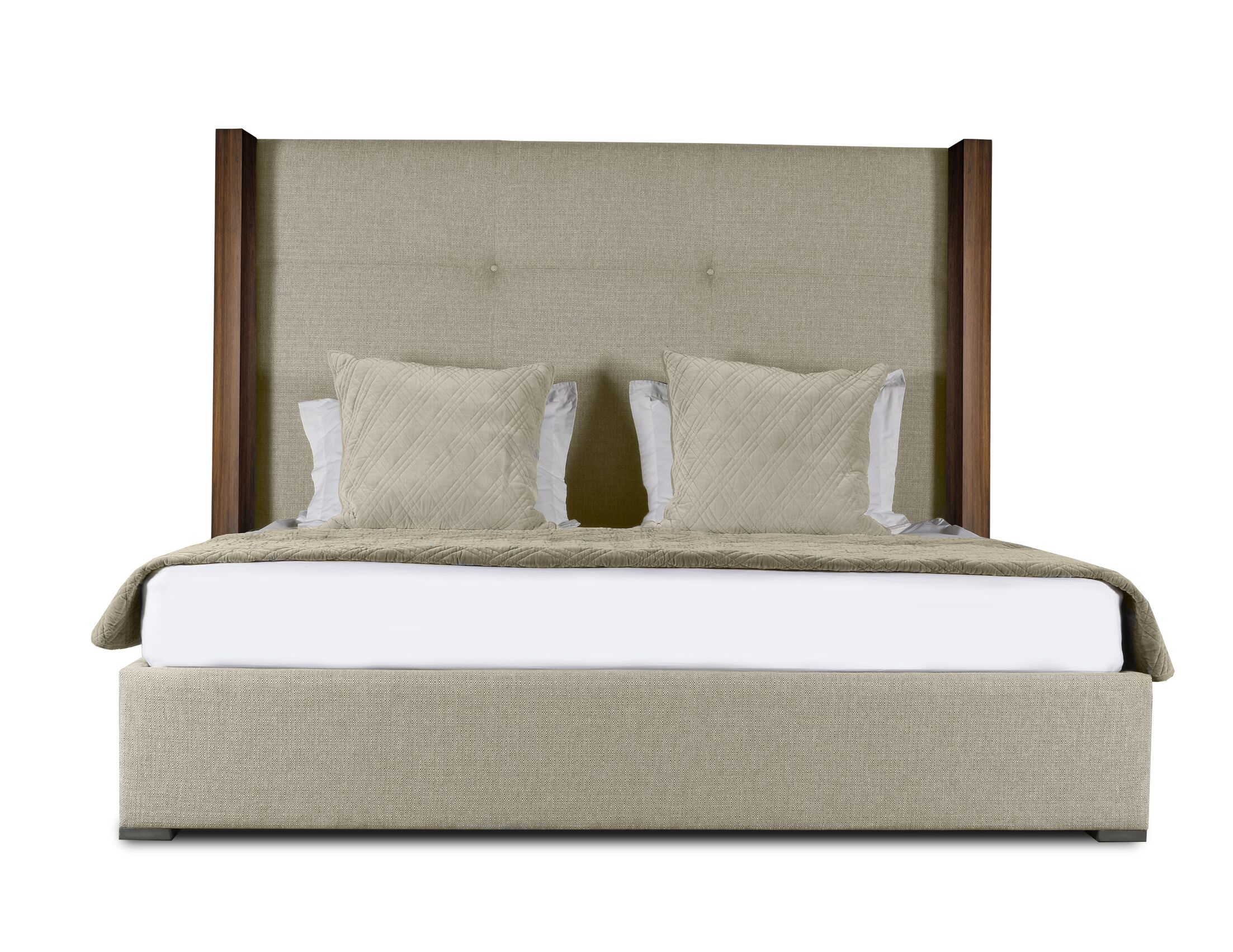 Harborcreek Upholstered Platform Bed Size: High Height Queen, Color: Sand