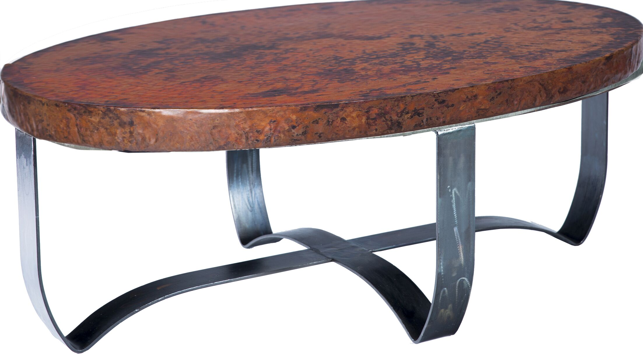 Jaylyn Strap Coffee Table Table Top Color: Natural Copper