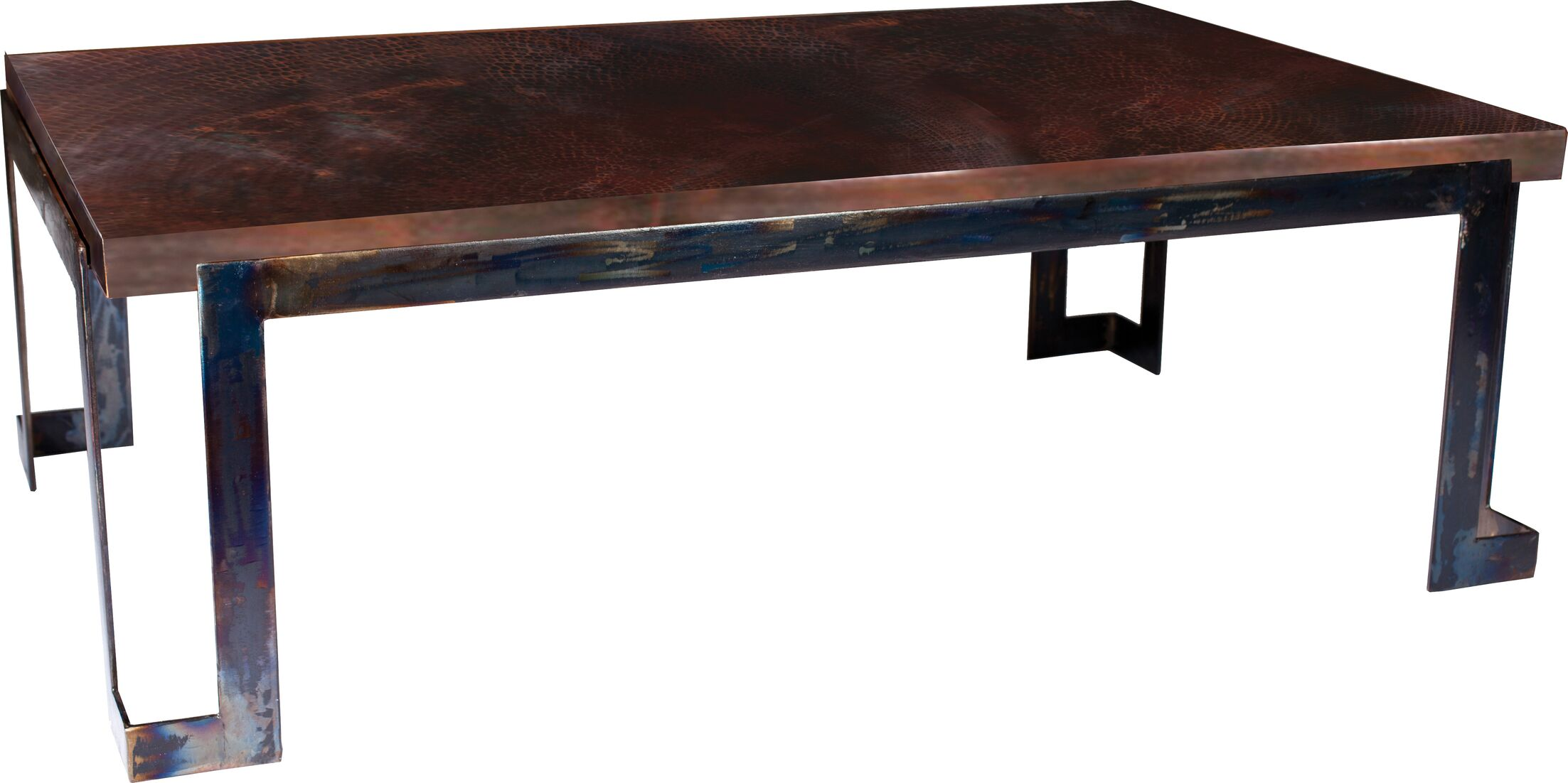 Deasia Steel Strap Coffee Table Table Top Color: Dark Brown Copper