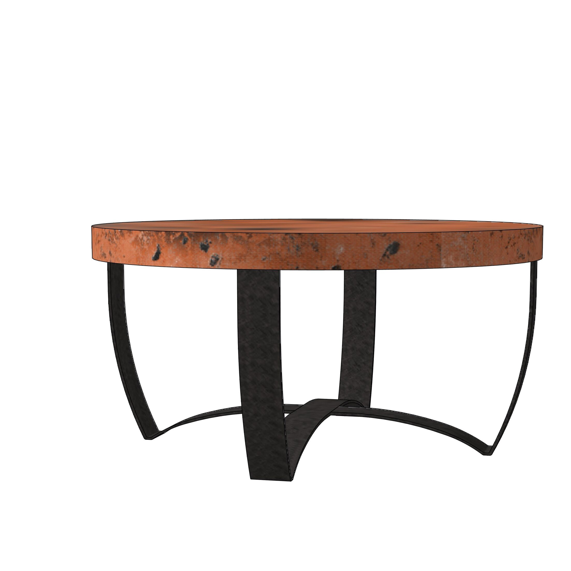 Maleah Strap Coffee Table Table Top Color: Natural Copper