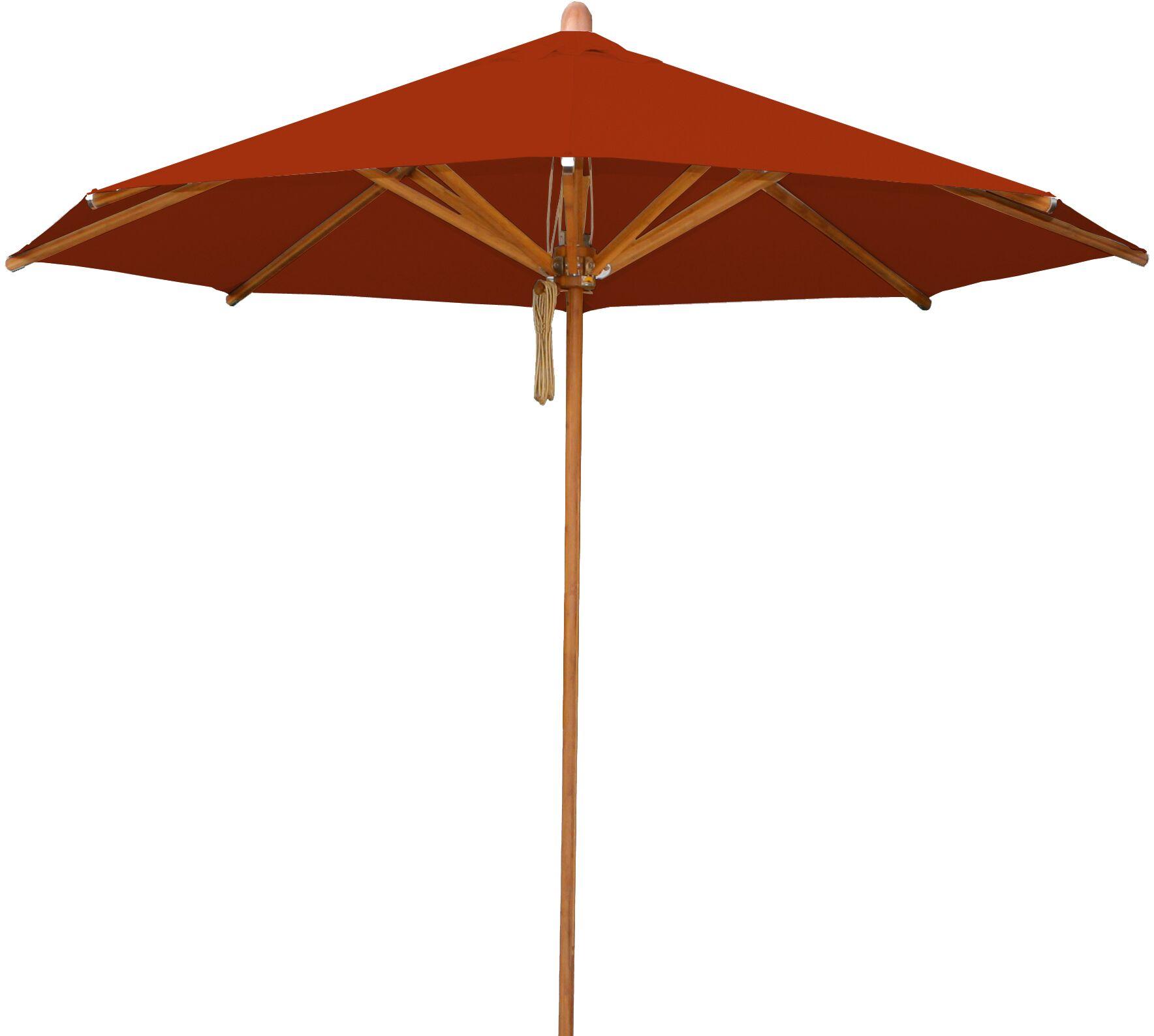 Levante 8.5' Market Umbrella Fabric: Terracotta