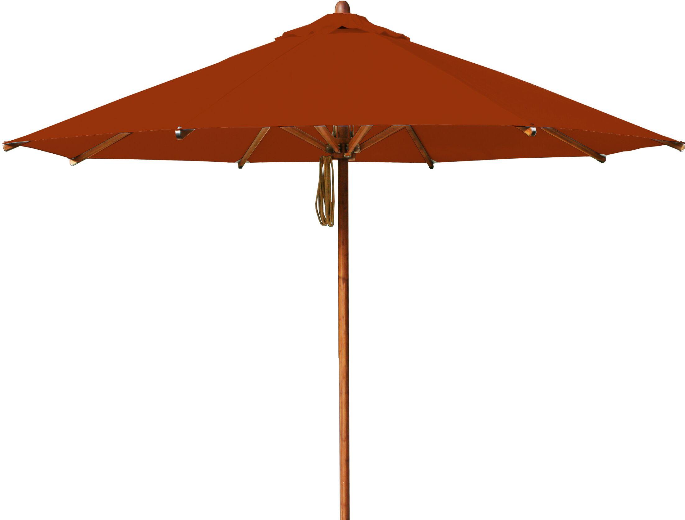 Levante 10' Market Umbrella Fabric: Terracotta