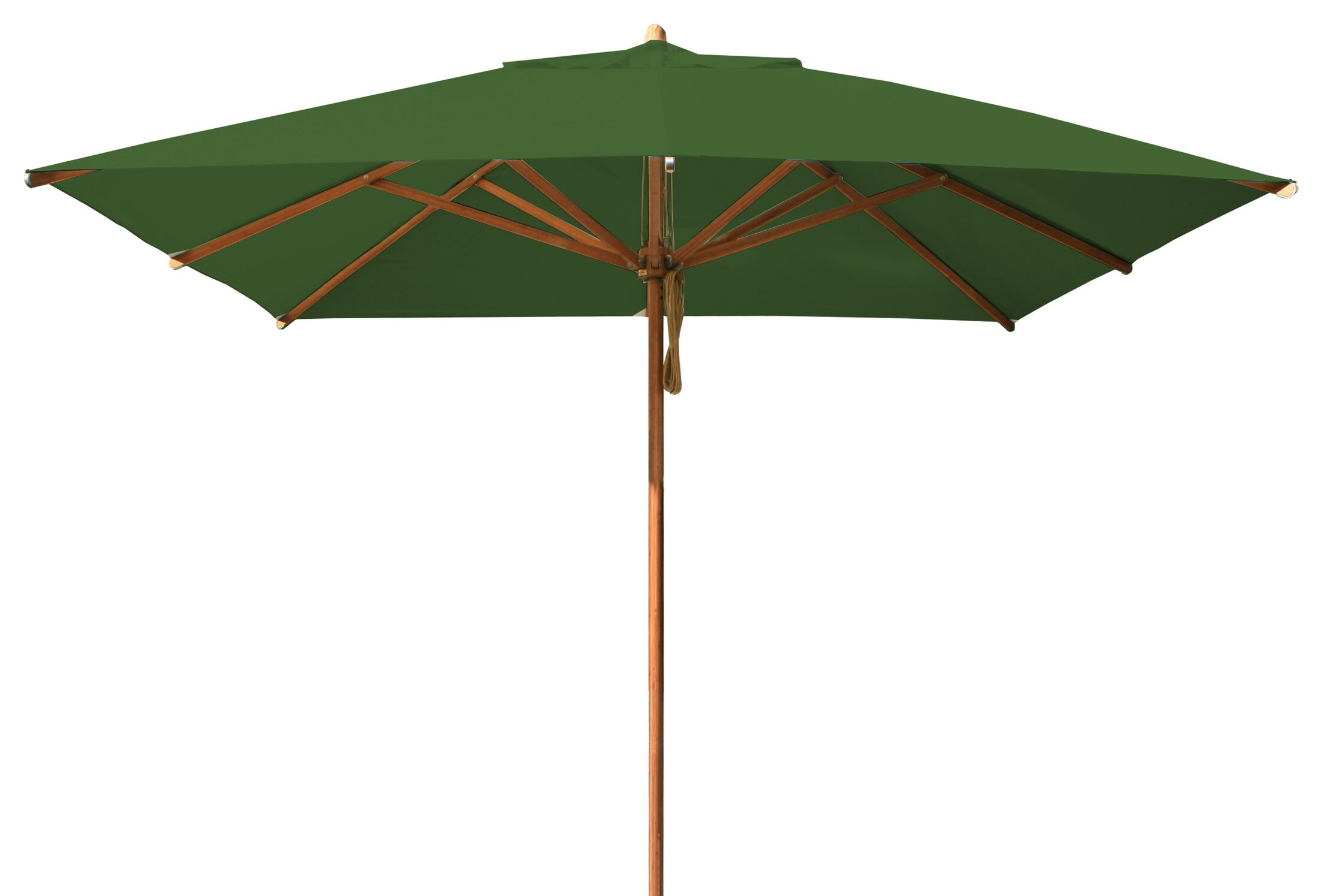 Levante 10' Square Market Umbrella Fabric: Forest Green