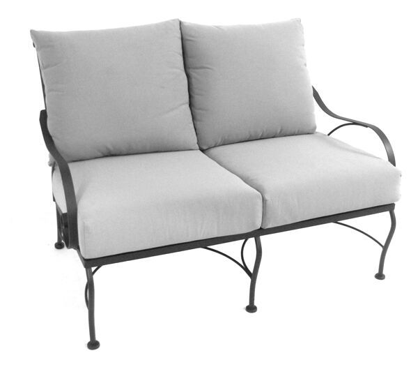 Monticello Deep Seating Loveseat with Cushion Fabric: Canvas Spa