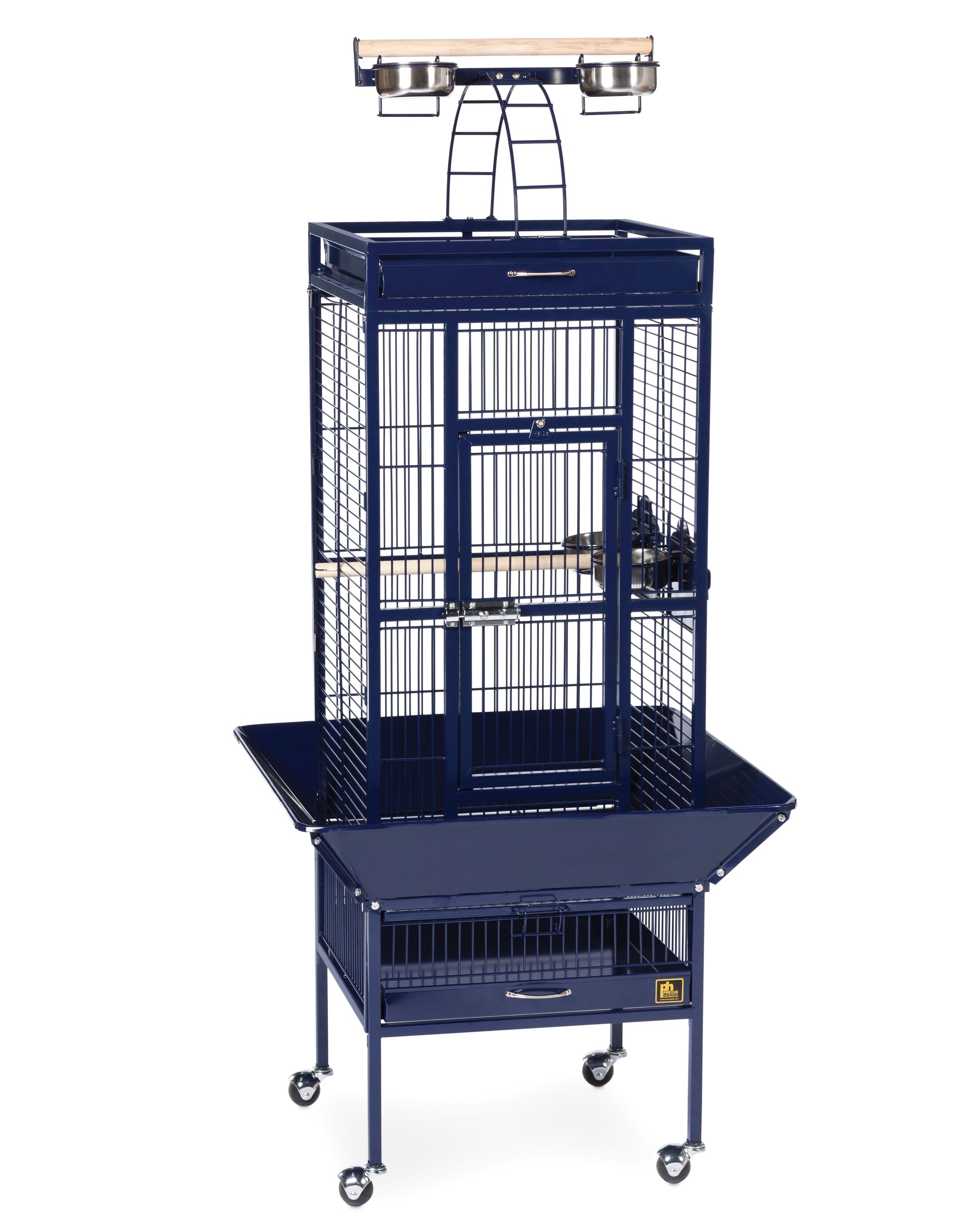 Elektra Bird Cage Color: Cobalt Blue, Size: Small