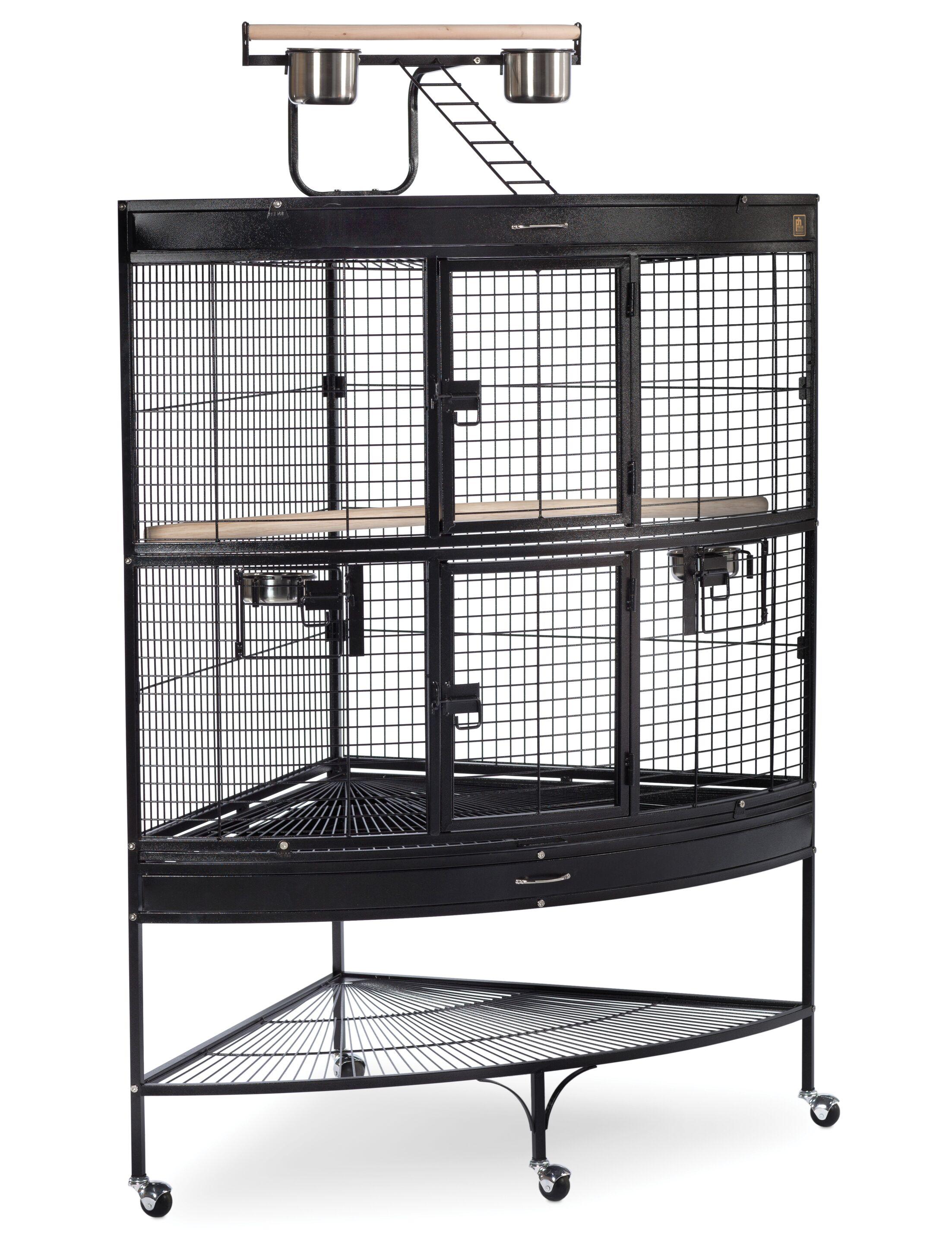 Large Bird Cage with Storage Shelf