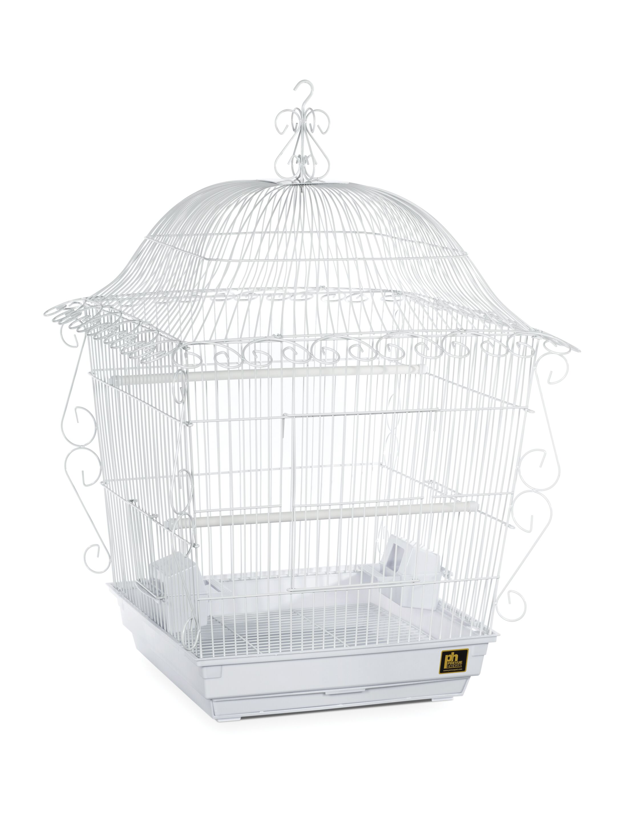 Jumbo Tiel Scrollwork Bird Cage Color: White