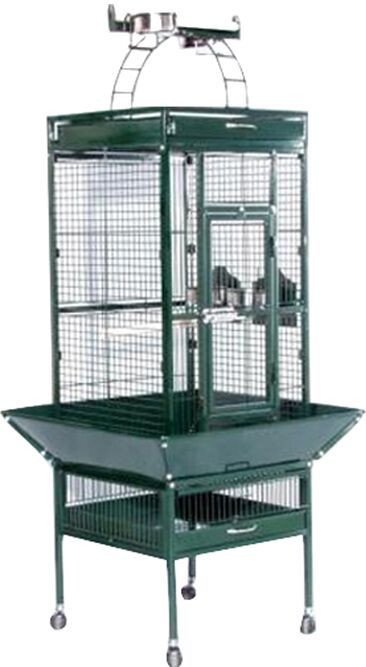 Elektra Bird Cage Color: Jade Green, Size: Small