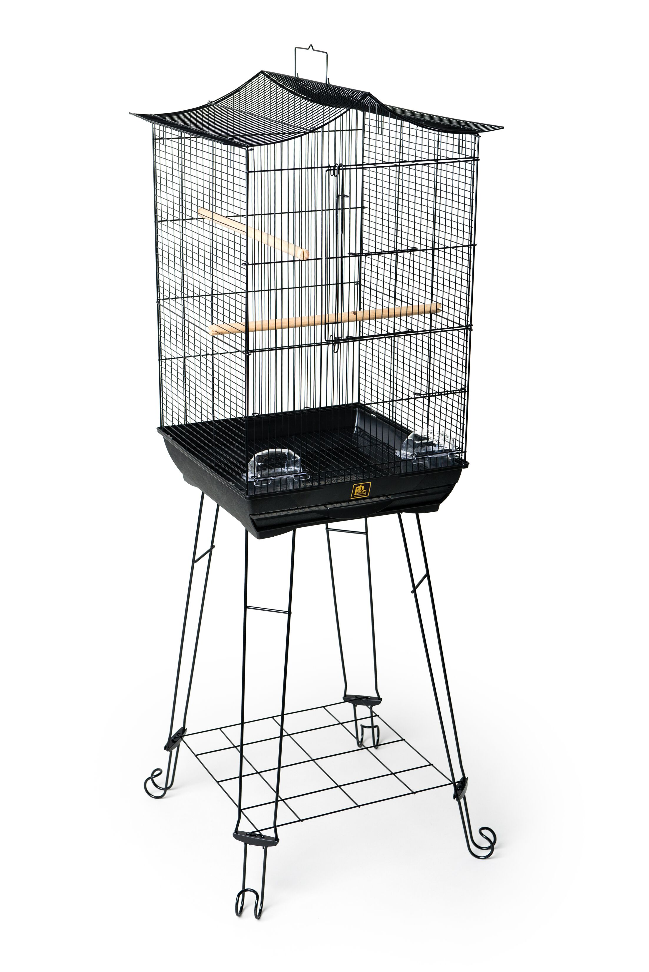 Crown Roof Parakeet Cage with Stand