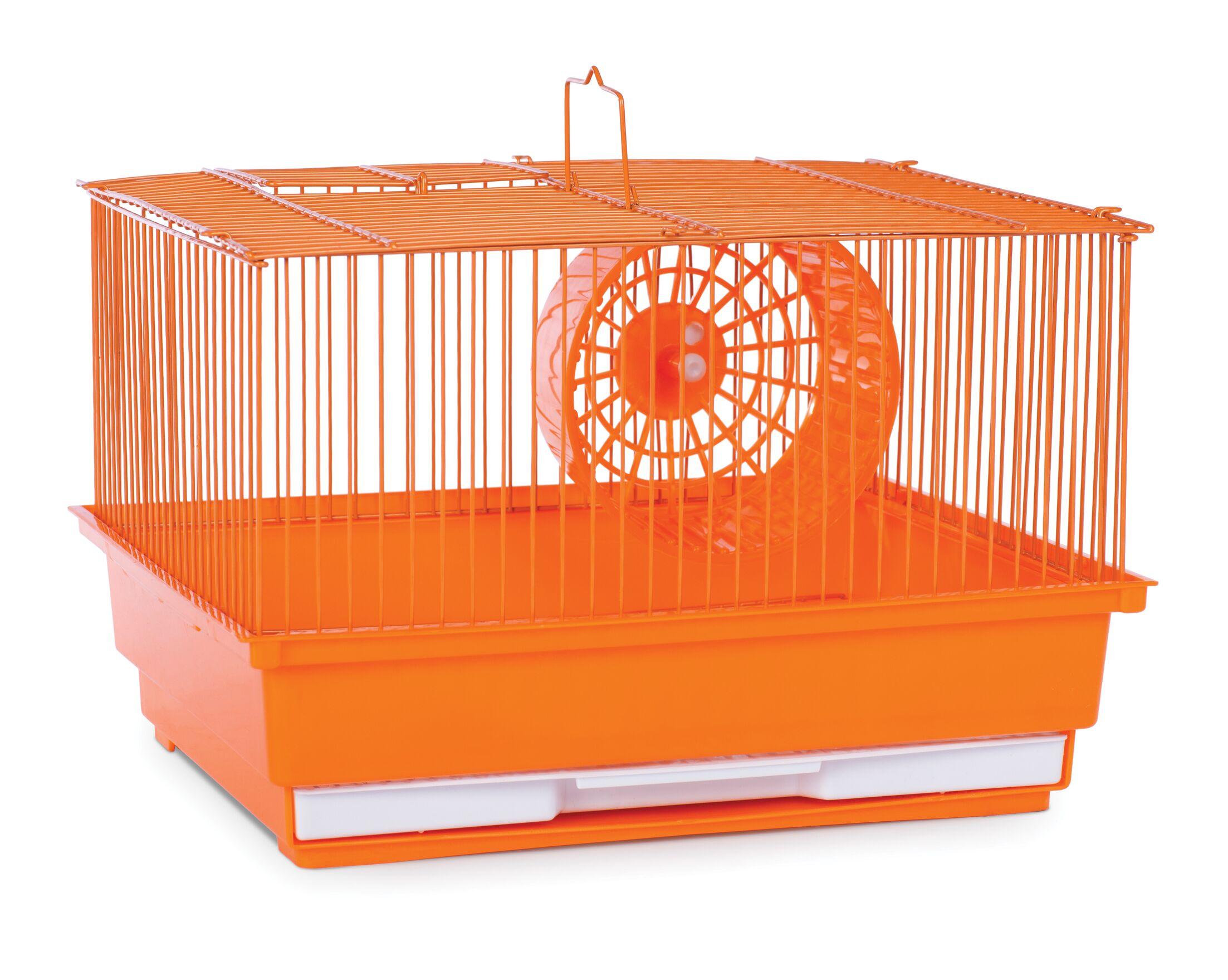 Crystal Small Animal Cage Color: Orange