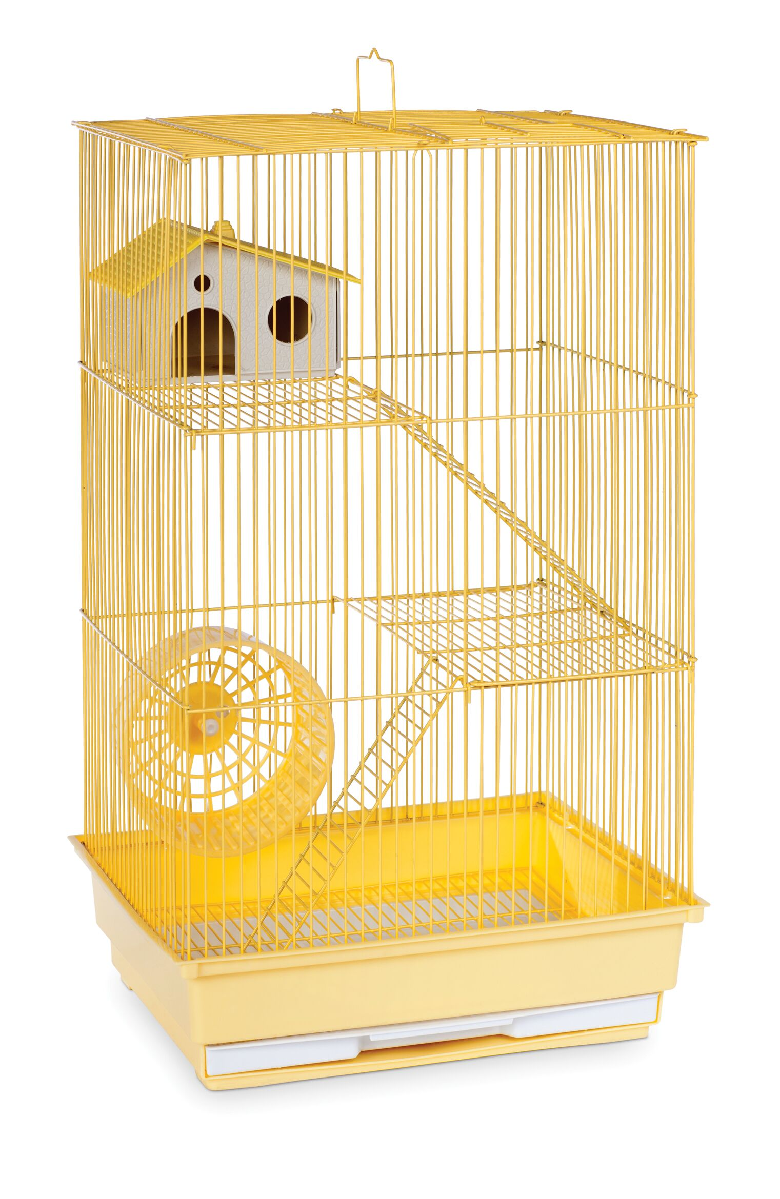 Crystal 3-Story Hamster/Gerbil Home-Mint Green Color: Yellow