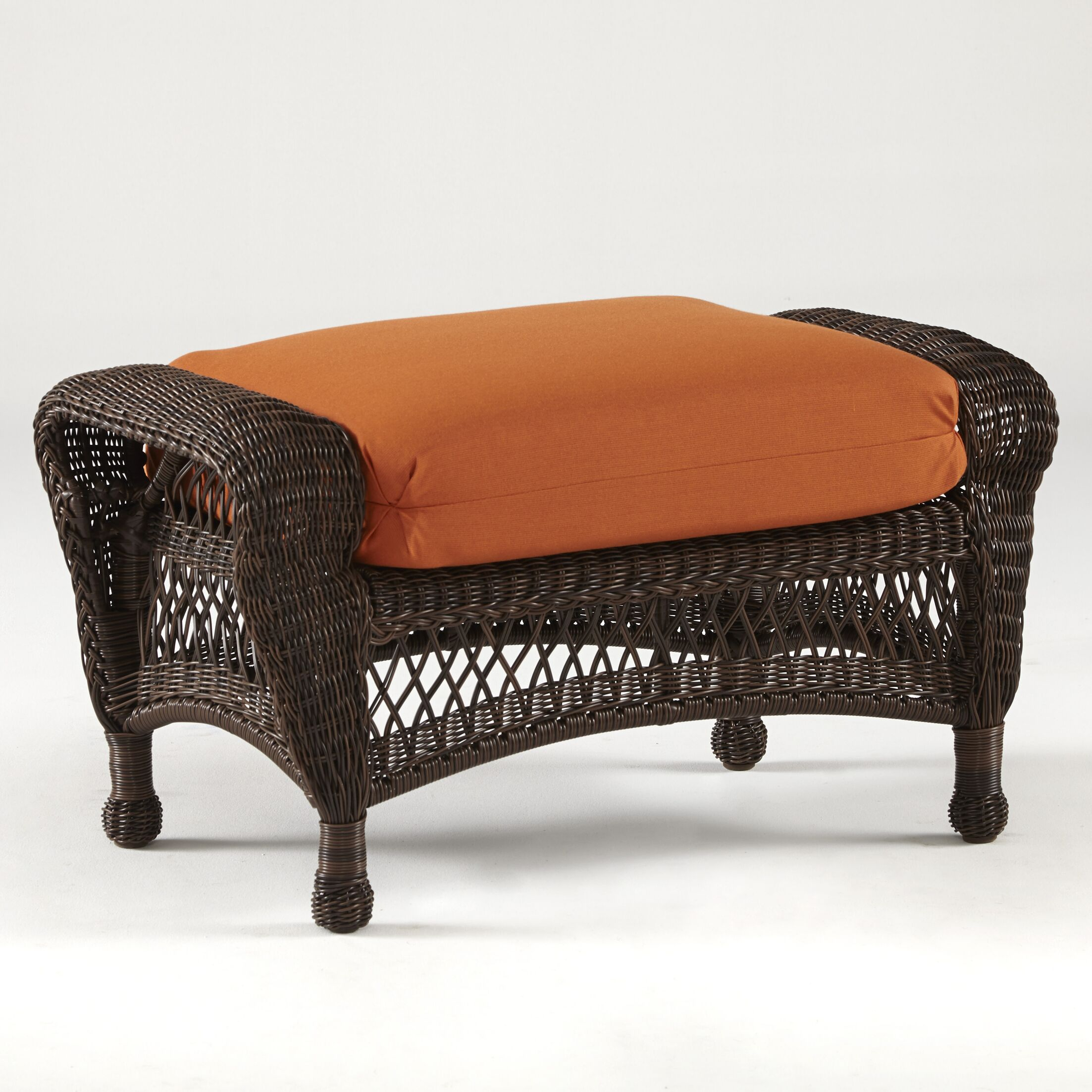 Spruce Hill Montego Bay Ottoman with Cushion Fabric: Sesame