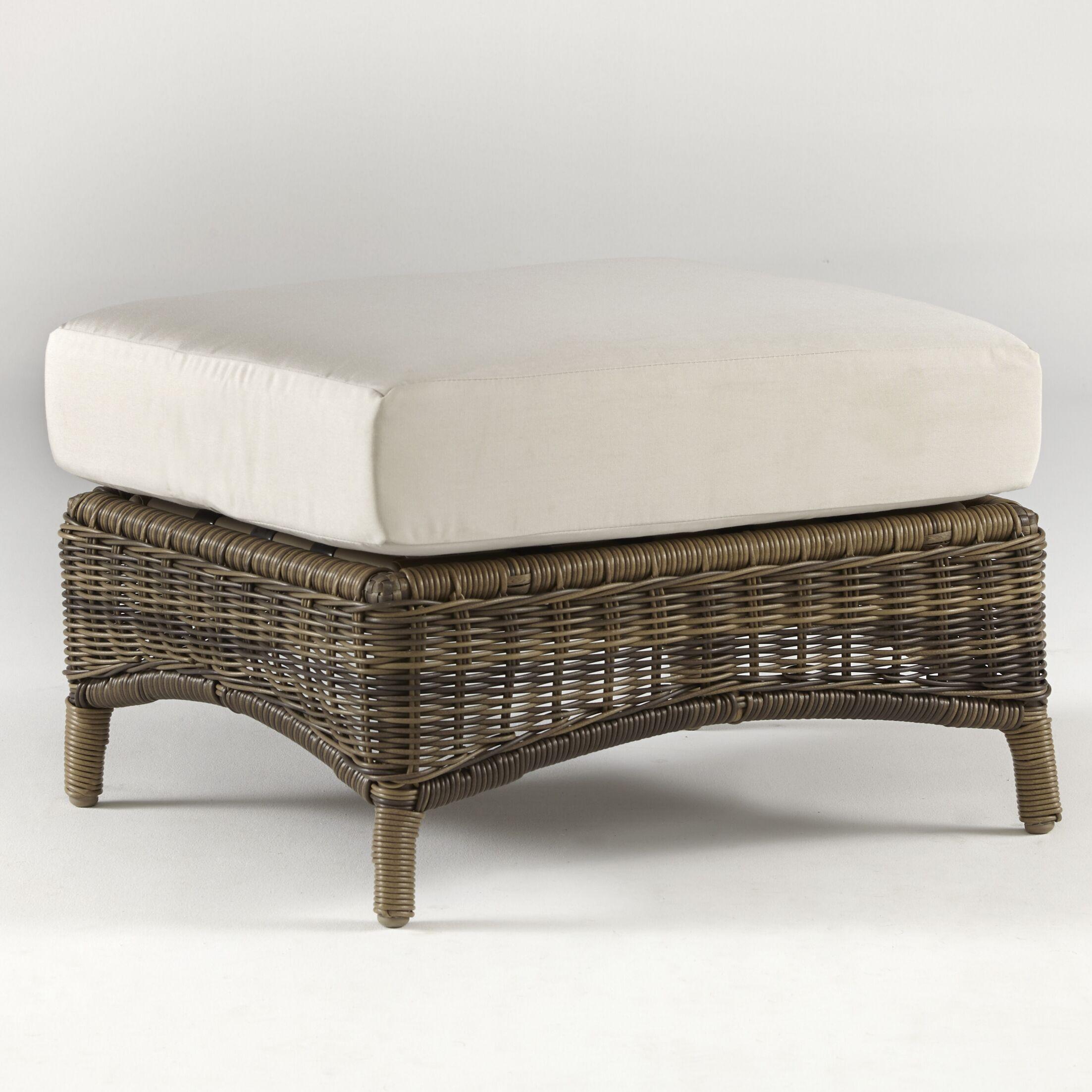 Provence Ottoman with Cushion Fabric: Pool