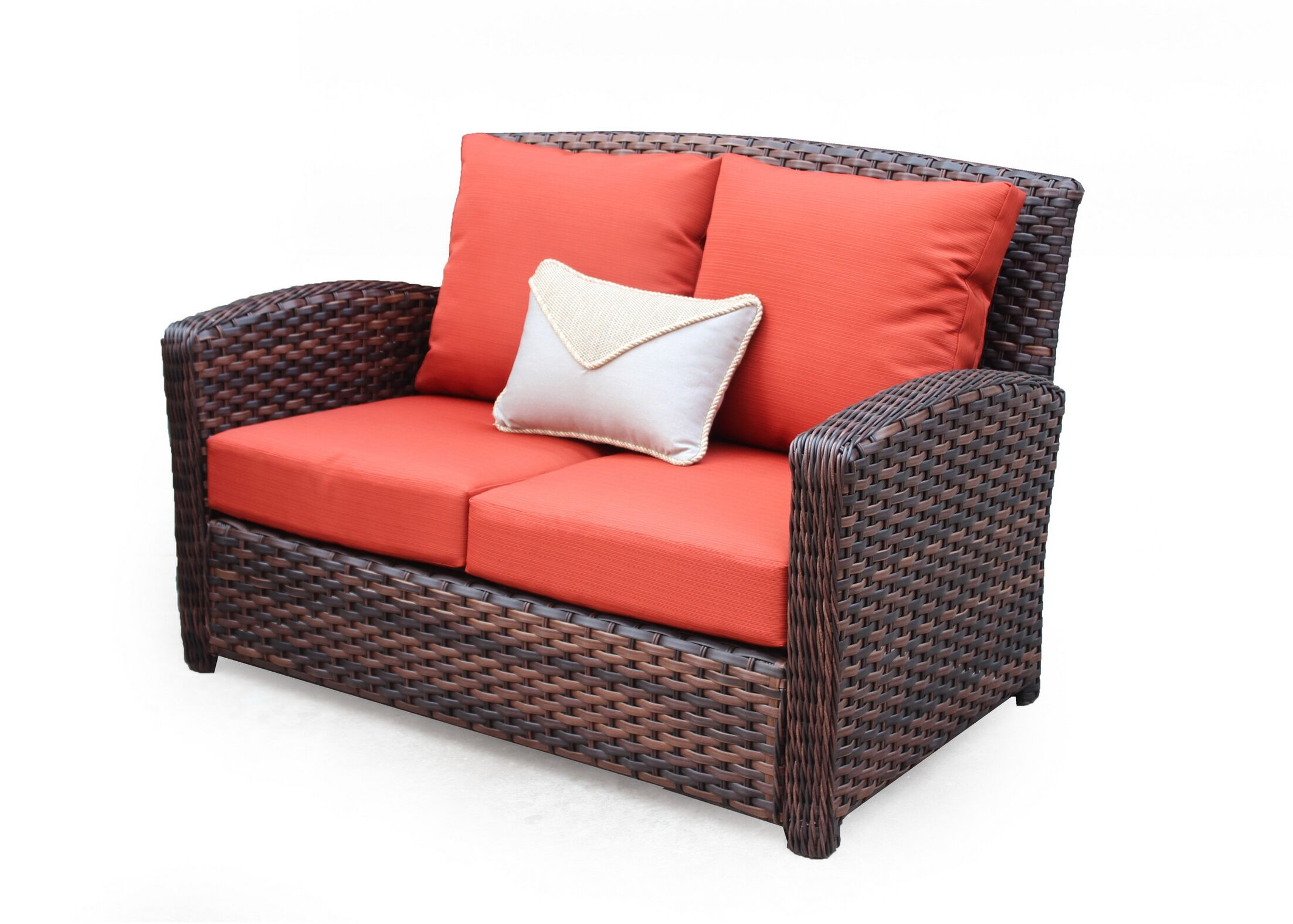 Remmers Loveseat with Cushion Color: Cast Oasis