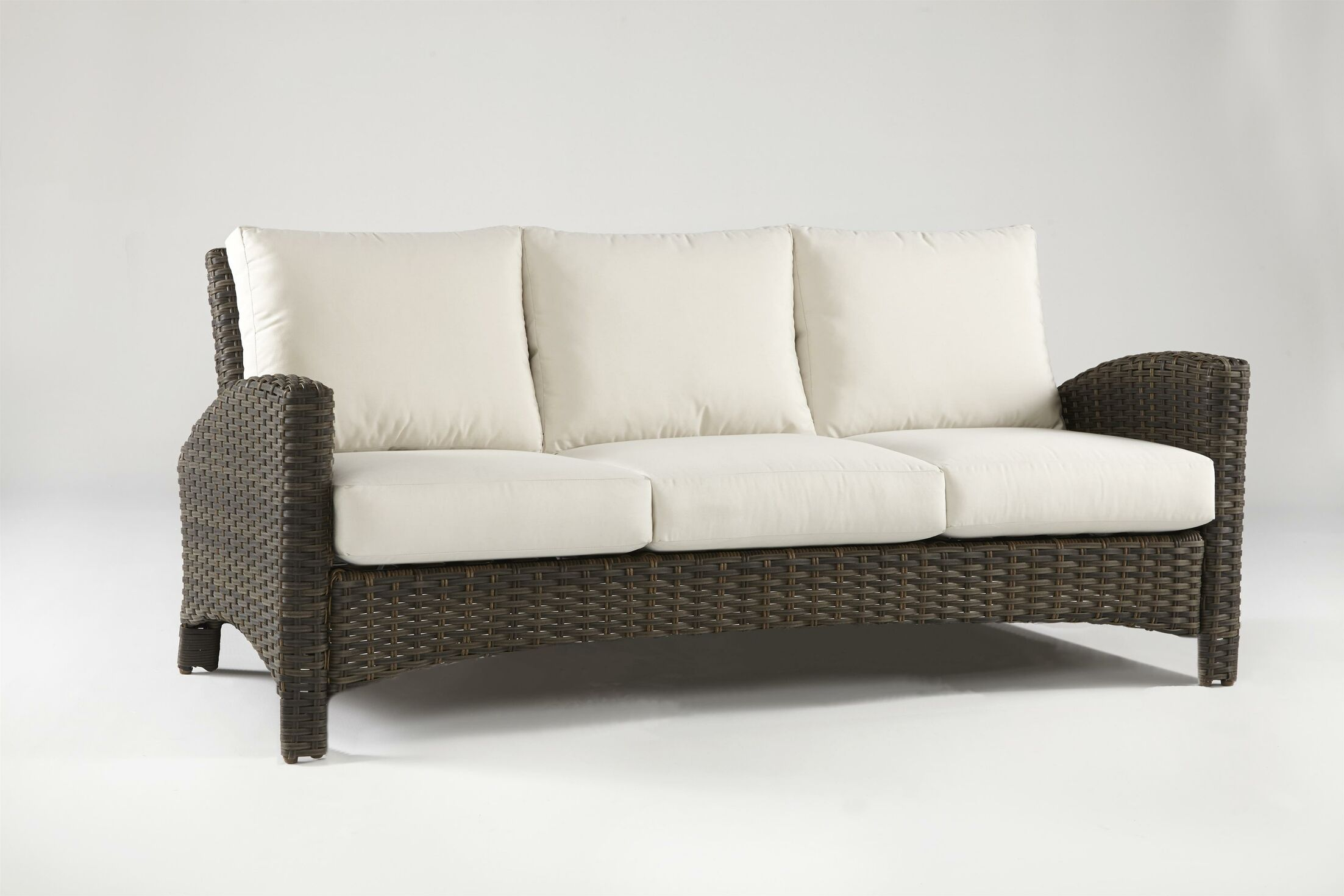 Allerone Sofa with Cushions Color: Cast Oasis