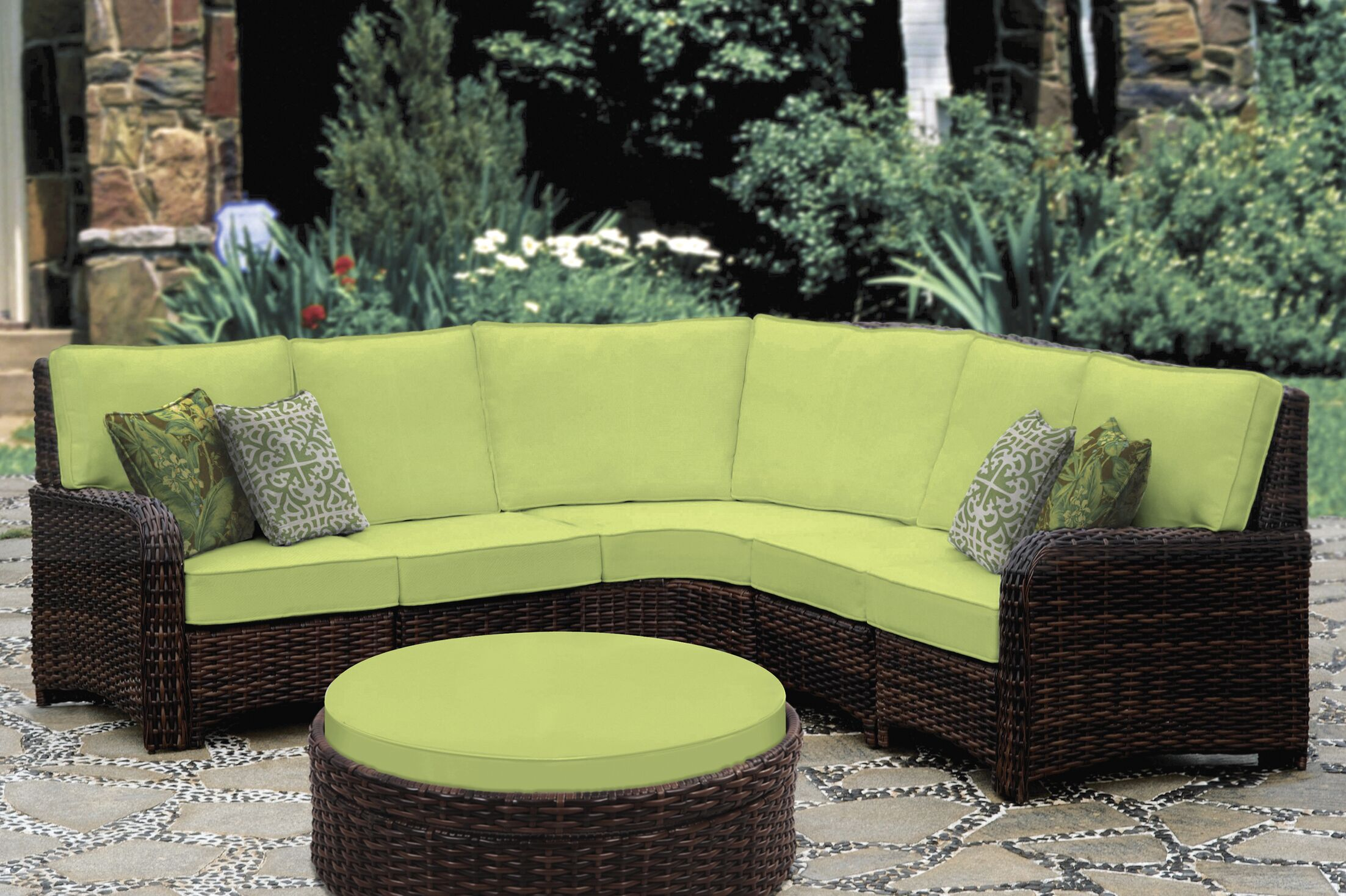 Spengler 5 Piece Sectional with Cushion Color: Sand